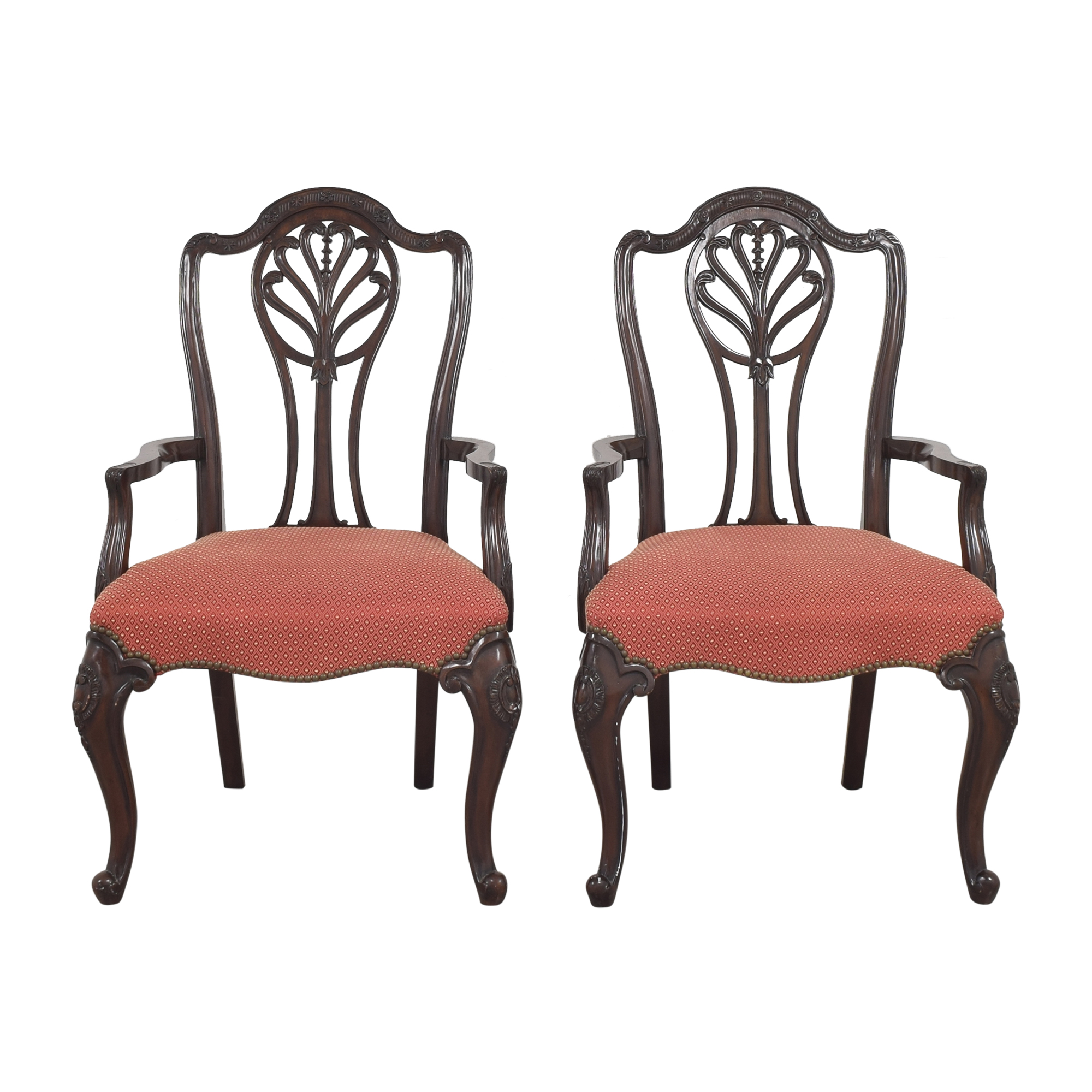 Drexel Heritage Drexel Heritage Upholstered Dining Arm Chairs nj