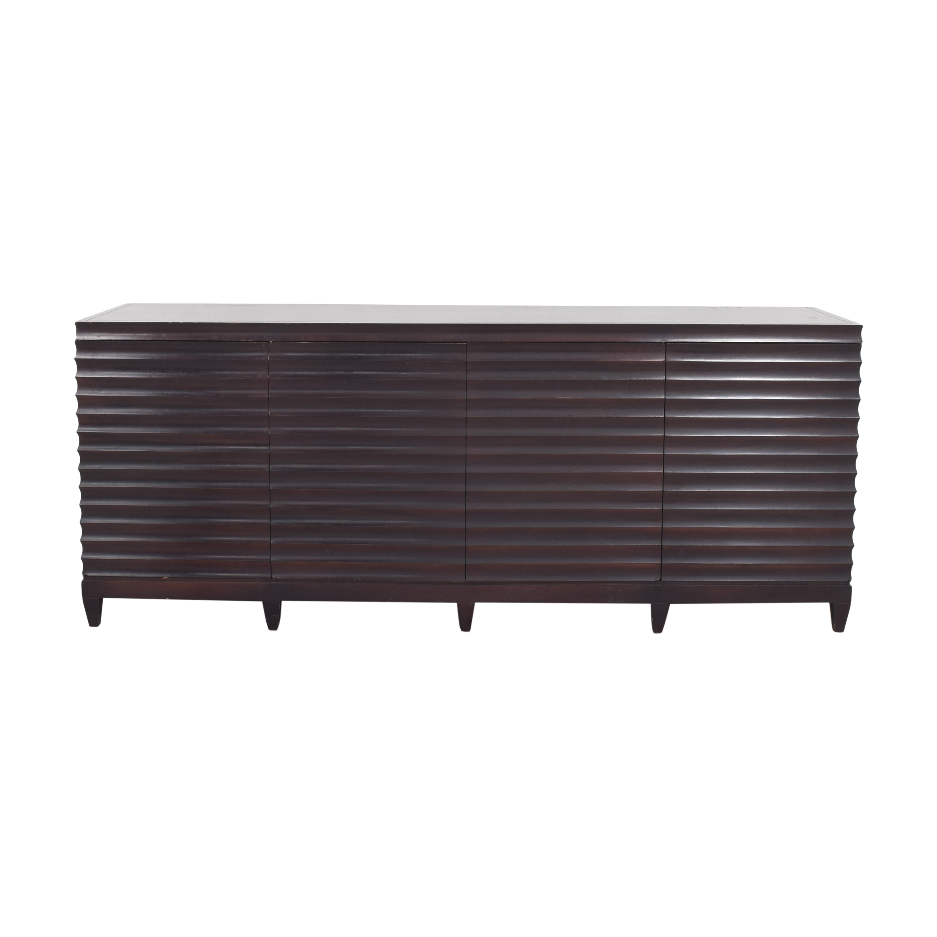 Baker Furniture Baker Furniture by Barbara Barry Fluted Low Cabinet dark brown