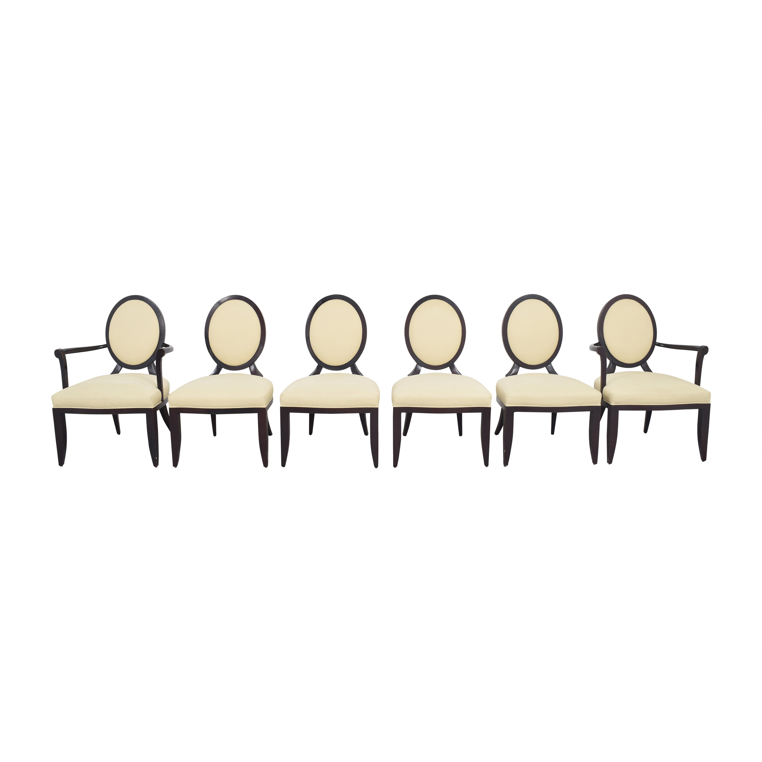 Baker Furniture Barbara Barry for Baker Furniture Oval X Back Dining Chairs nyc