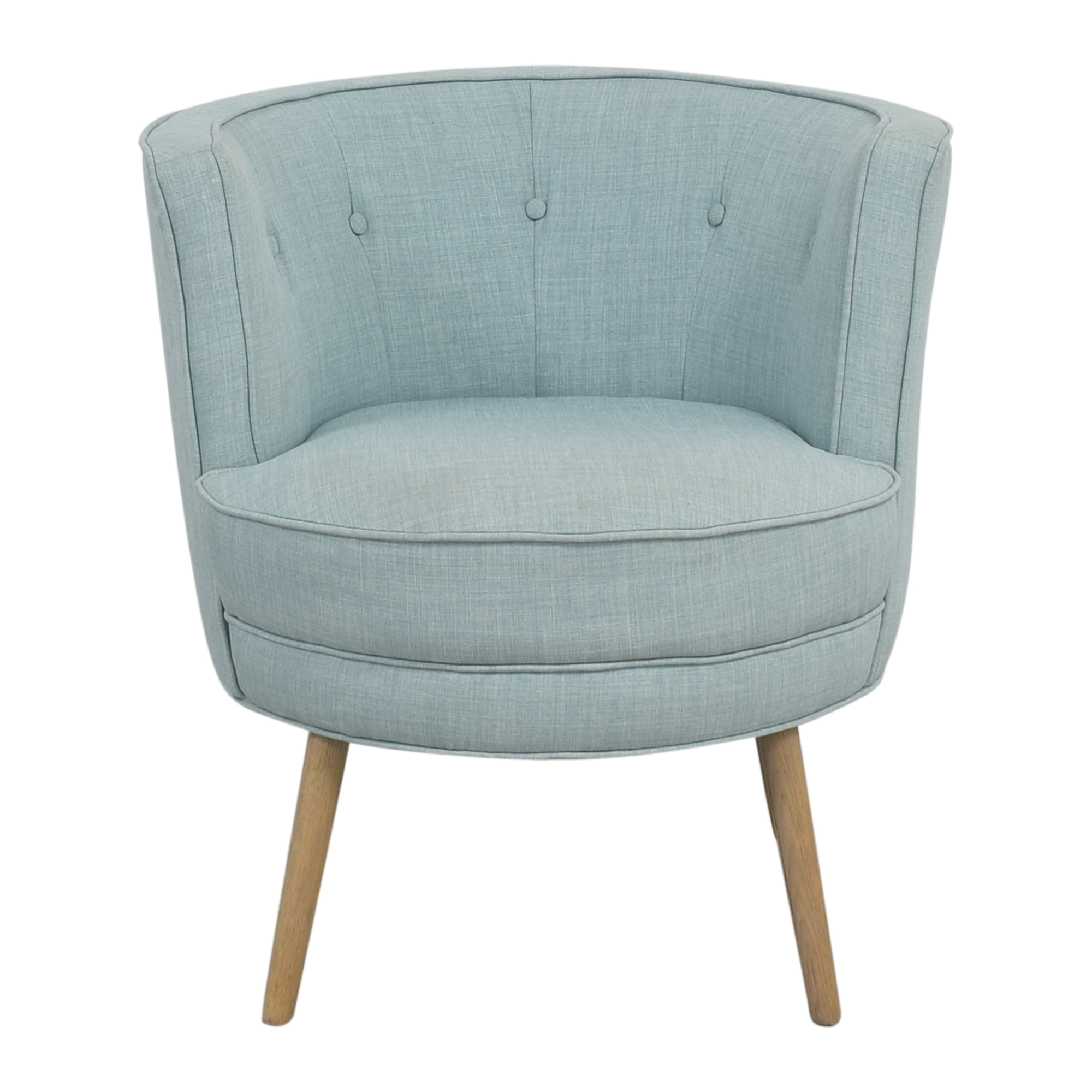 West Elm Buttoned Accent Armchair West Elm