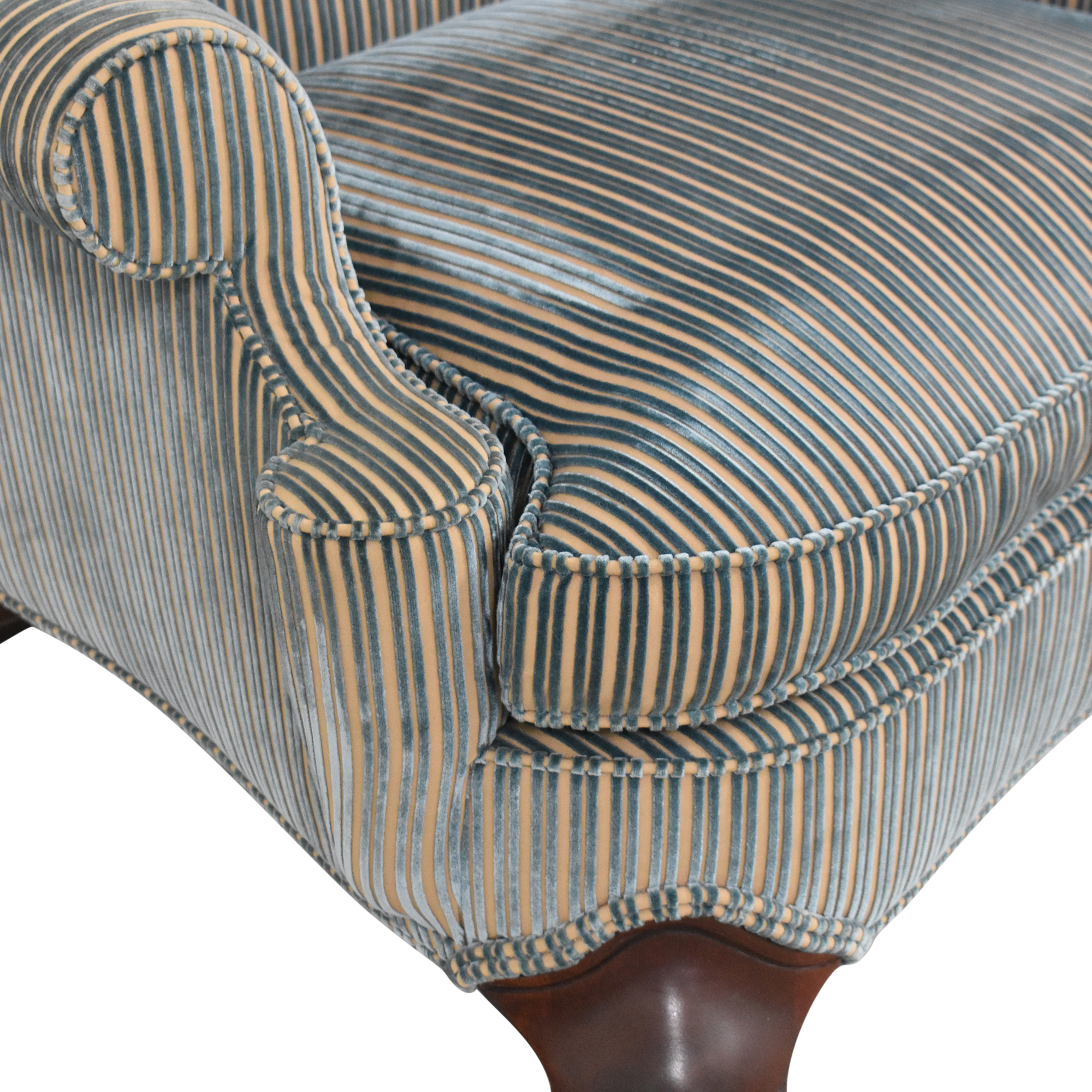 Hickory Chair Stripe Wing Back Chair / Chairs