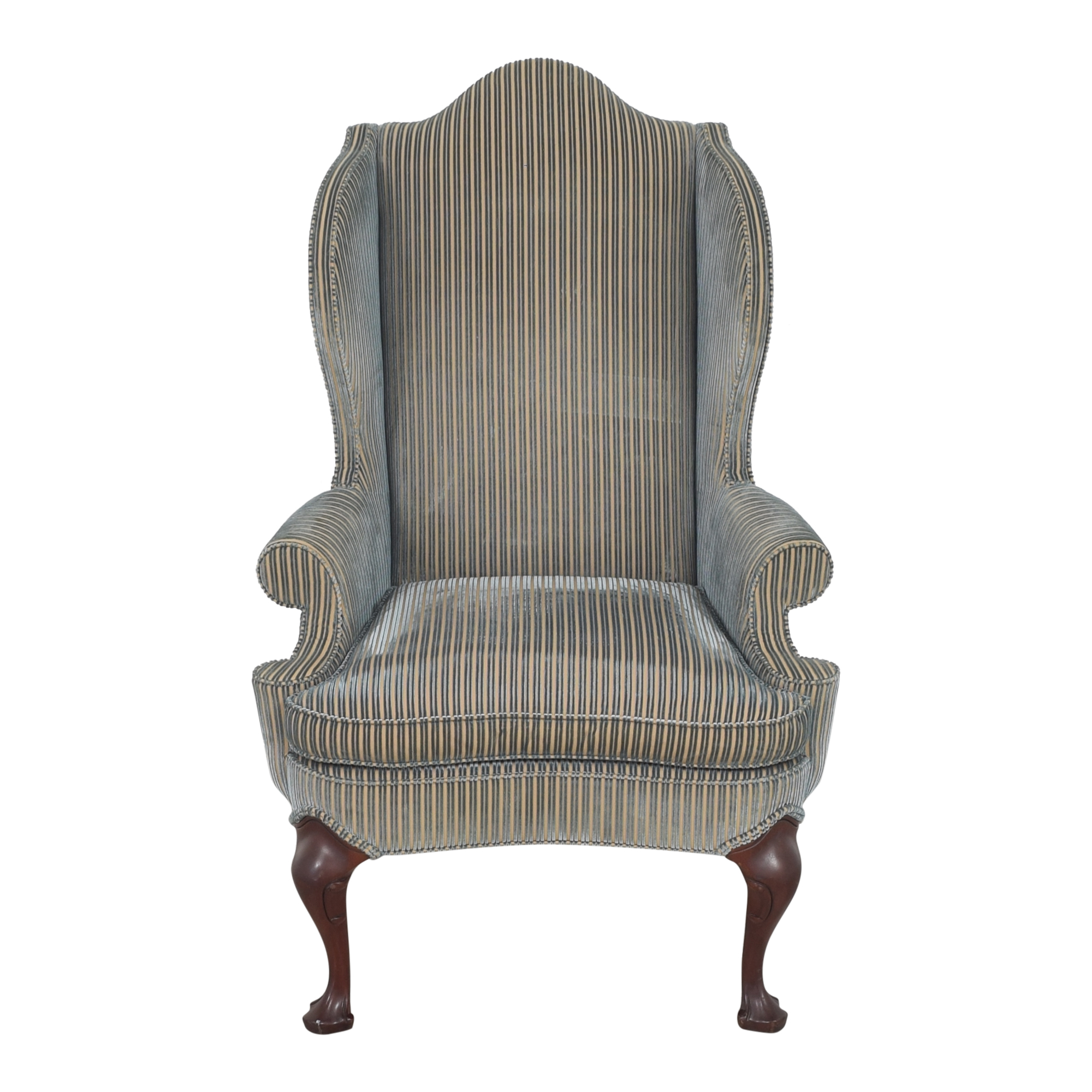 shop Hickory Chair Stripe Wing Back Chair Hickory Chair Accent Chairs