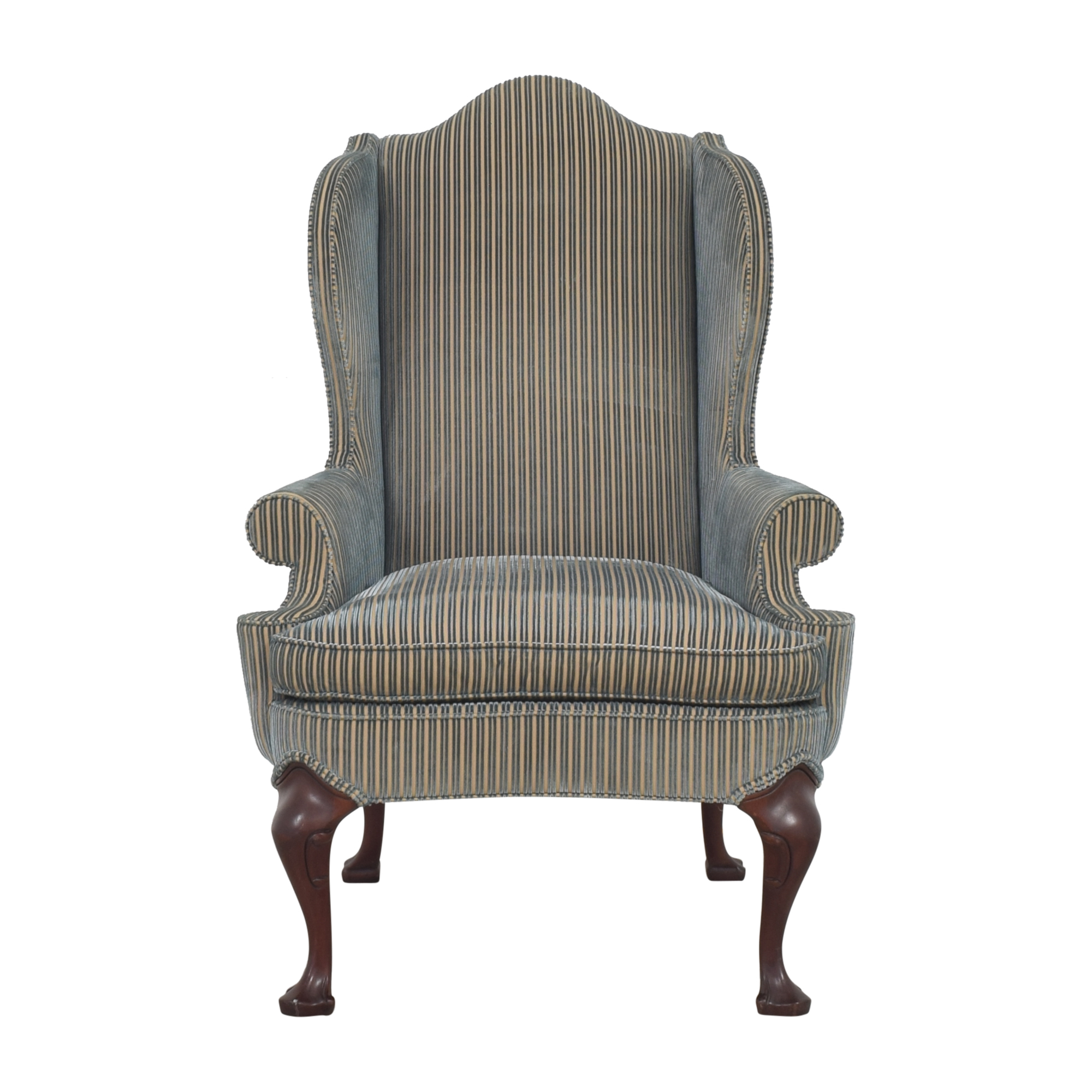 Hickory Chair Stripe Wing Back Chair Hickory Chair