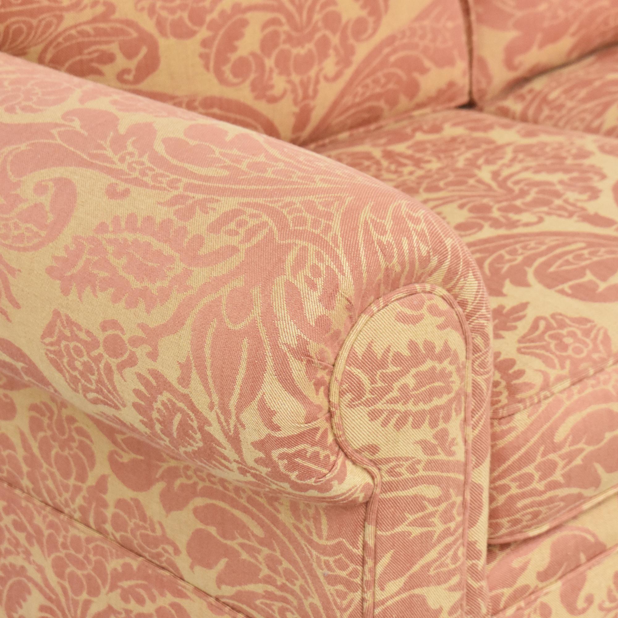 Roll Arm Skirted Sofa dimensions