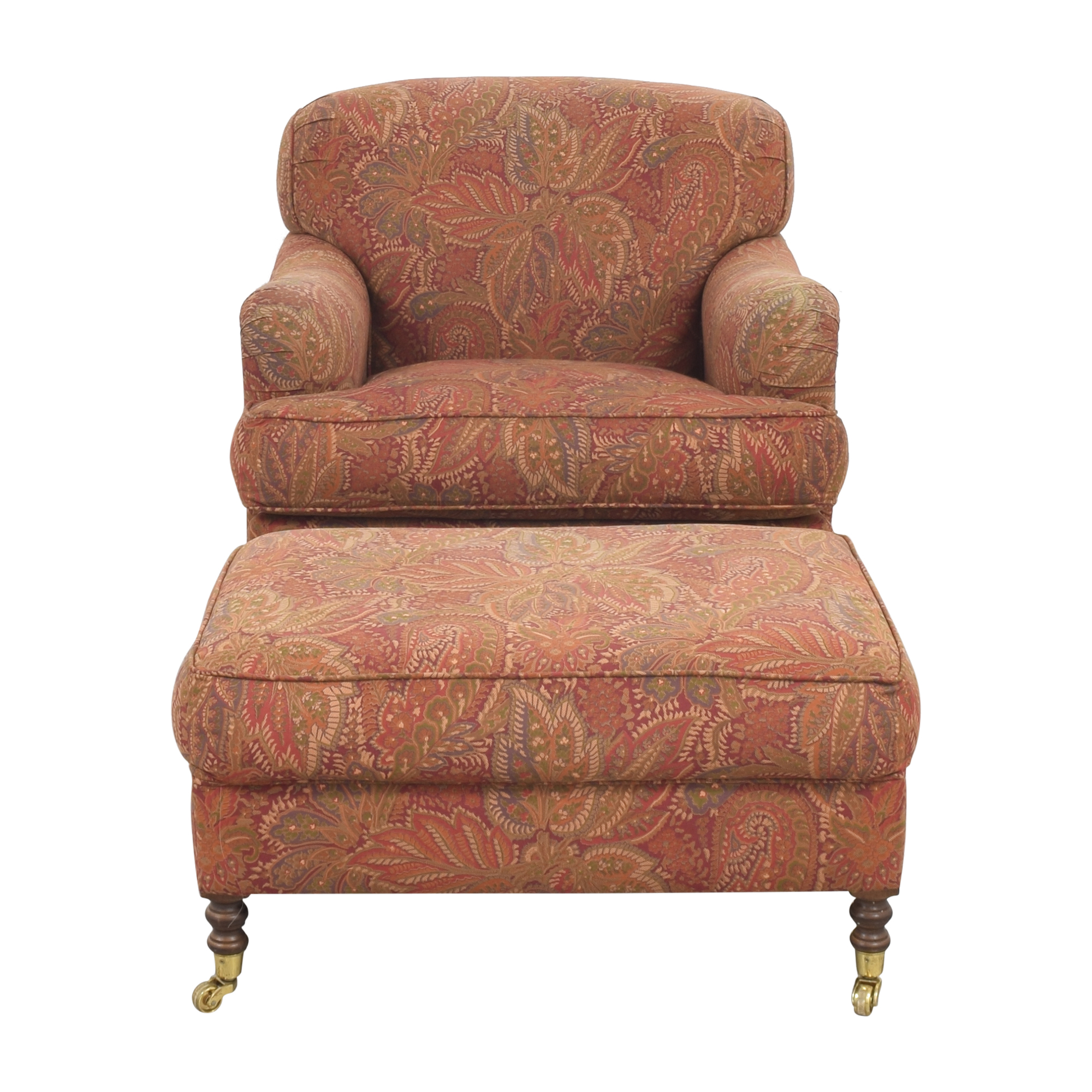 shop Paisley Club Chair and Ottoman  Chairs