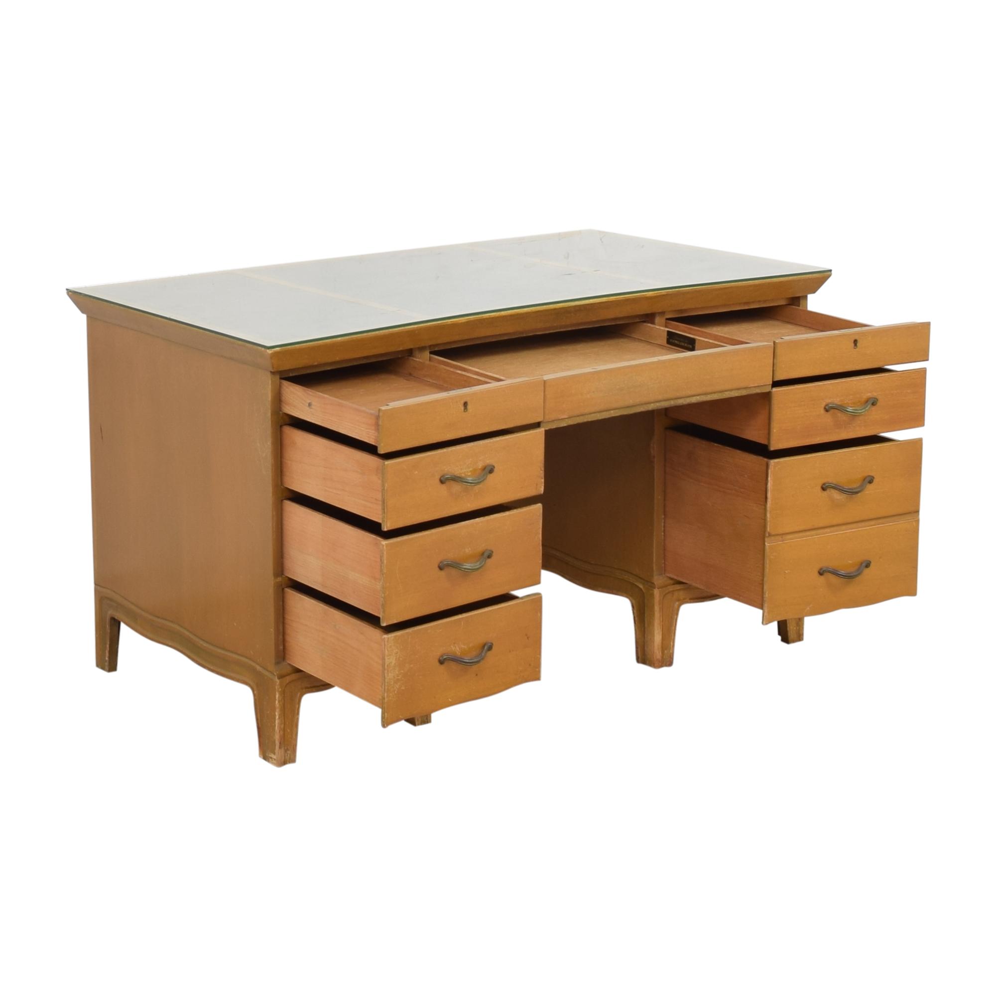 Tomlinson Tomlinson Vintage Double Pedestal Desk for sale