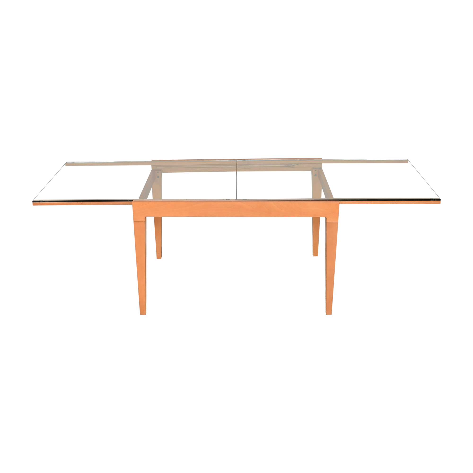 shop B&B Italia Extendable Transparent Dining Table B&B Italia