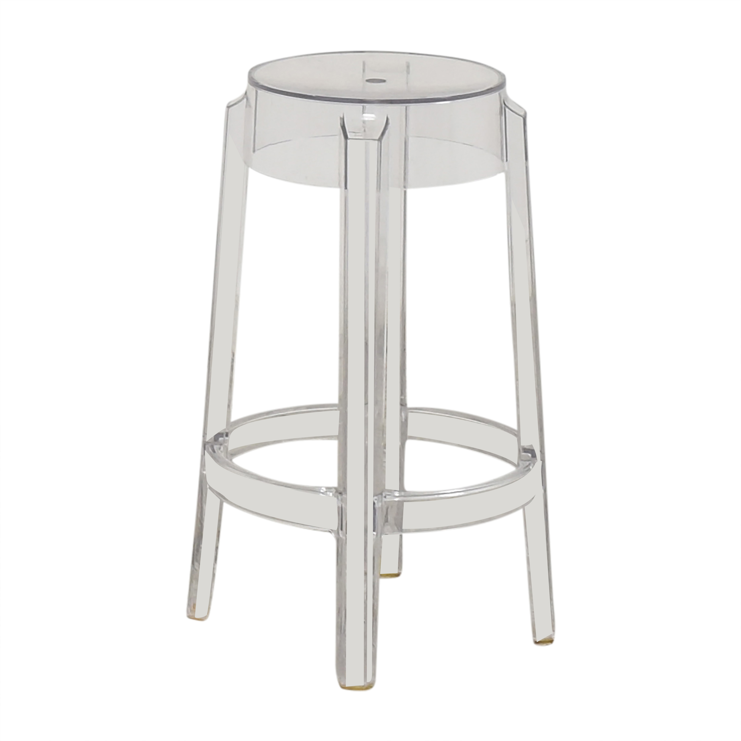 Kartell Charles Ghost Counter Stool by Phillipe Starck / Chairs
