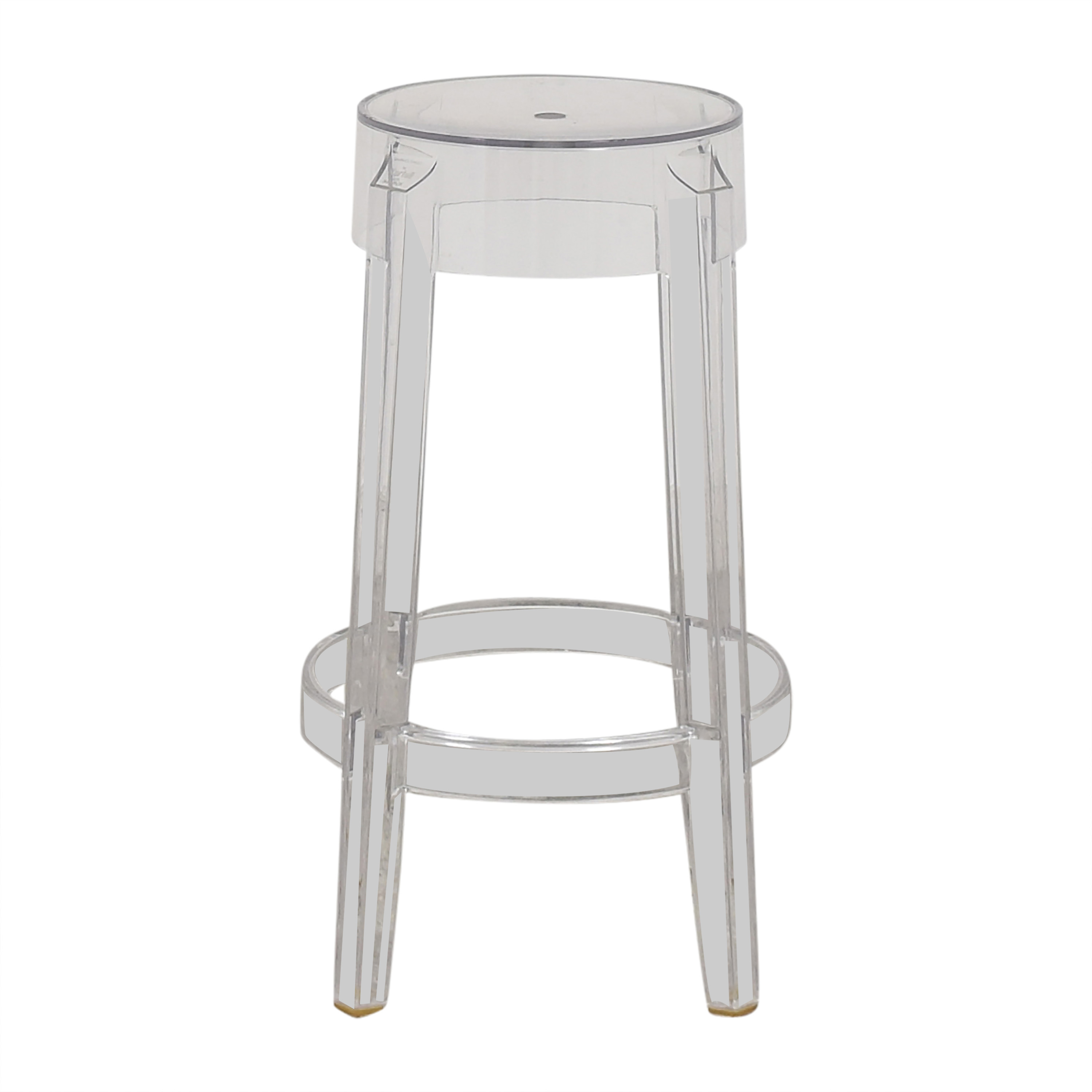 Kartell Kartell Charles Ghost Counter Stool by Phillipe Starck Chairs