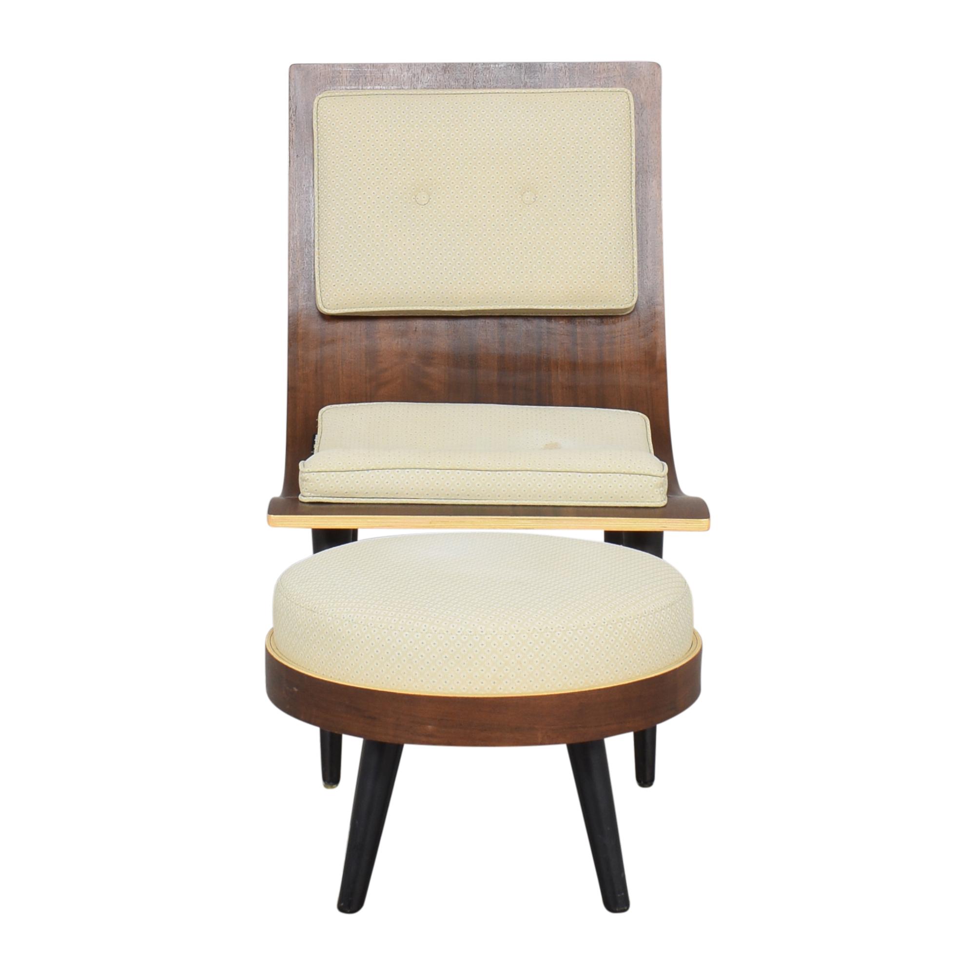 Halit Berker Halit Berker Dery-hall Chair and Ottoman Chairs