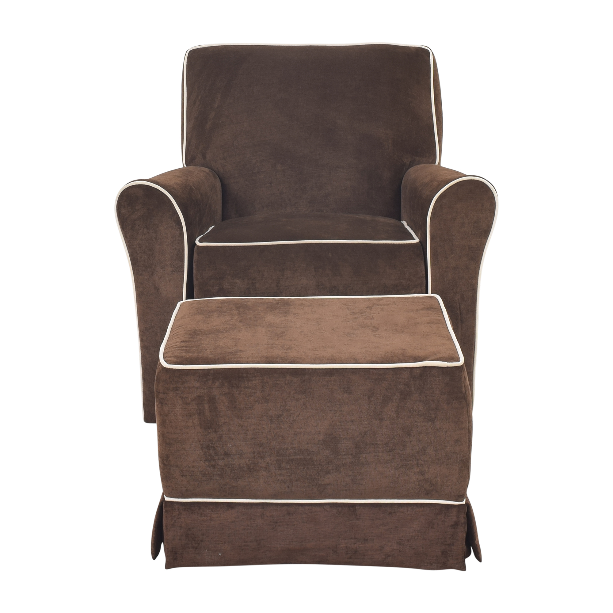 shop Little Castle Furniture Reclining Swivel Glider with Ottoman Little Castle Furniture