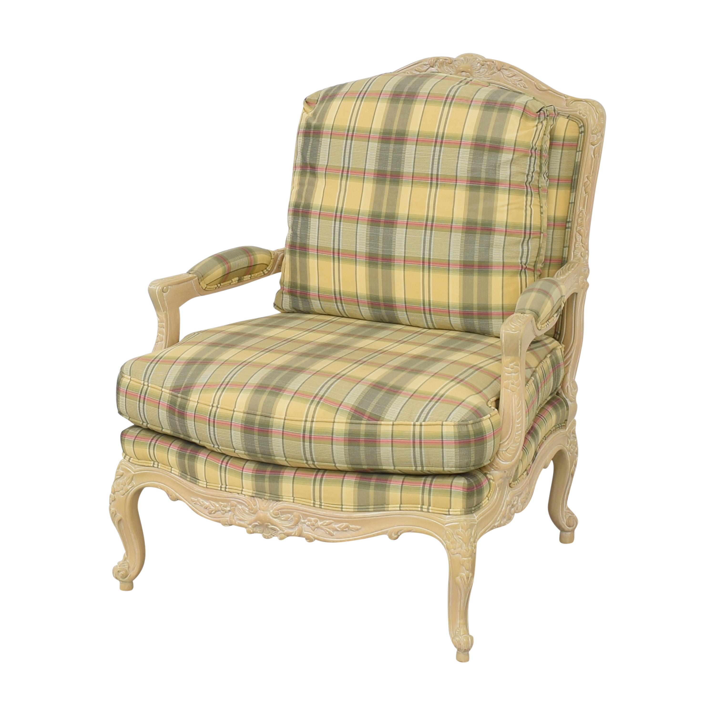 Sherrill Furniture Sherrill Furniture Plaid Carved Chair