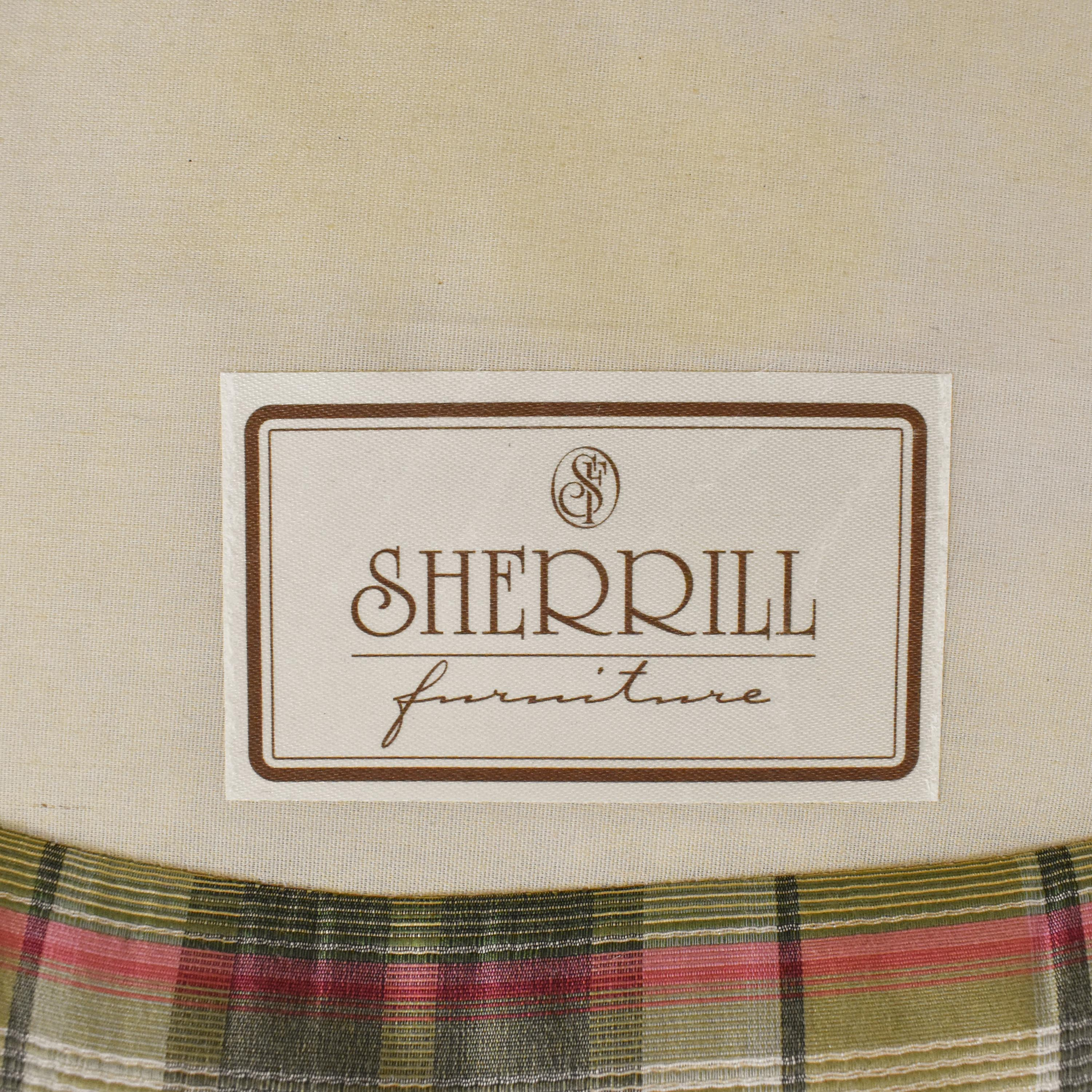 Sherrill Furniture Sherrill Furniture Plaid Carved Chair on sale