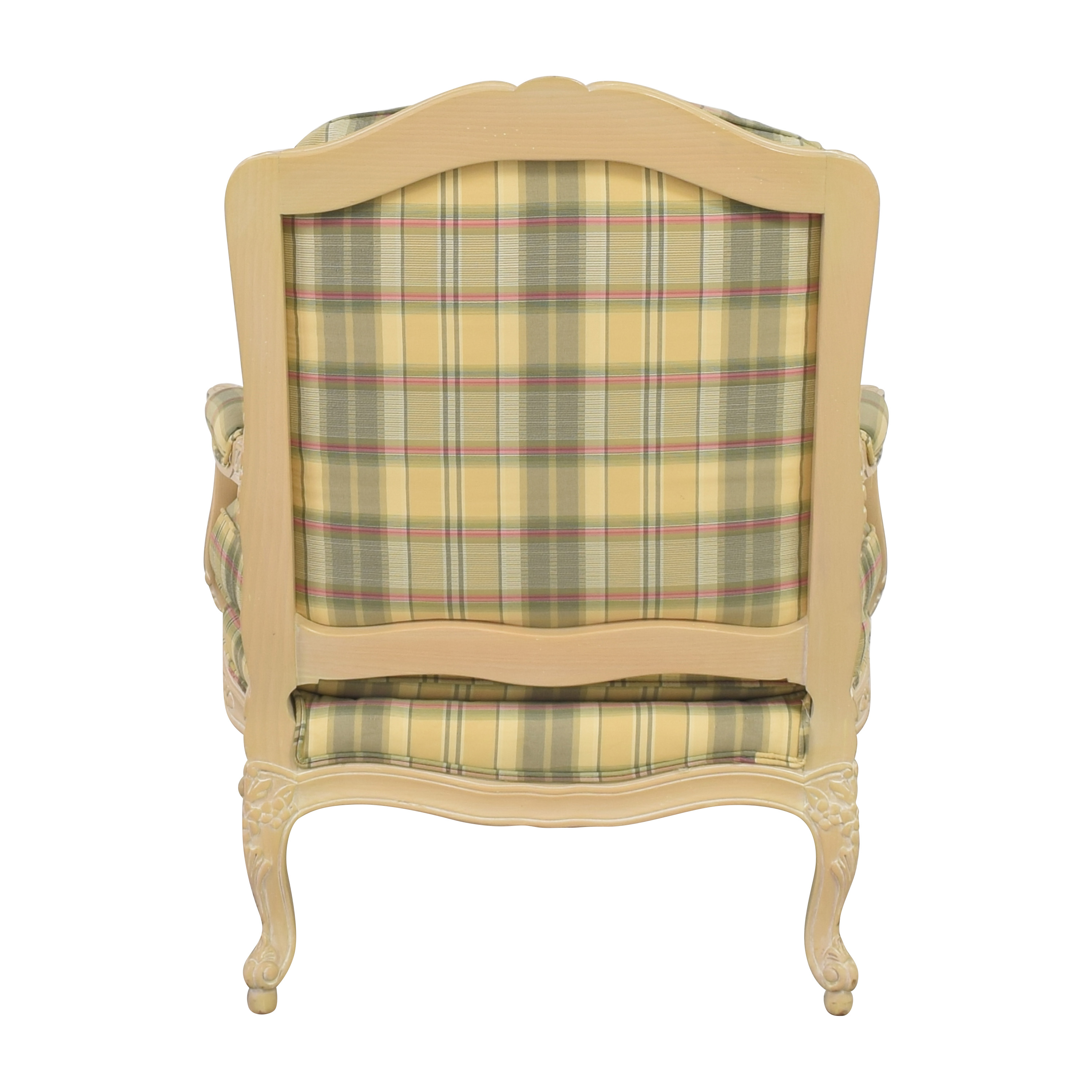 shop Sherrill Furniture Plaid Carved Chair Sherrill Furniture Chairs
