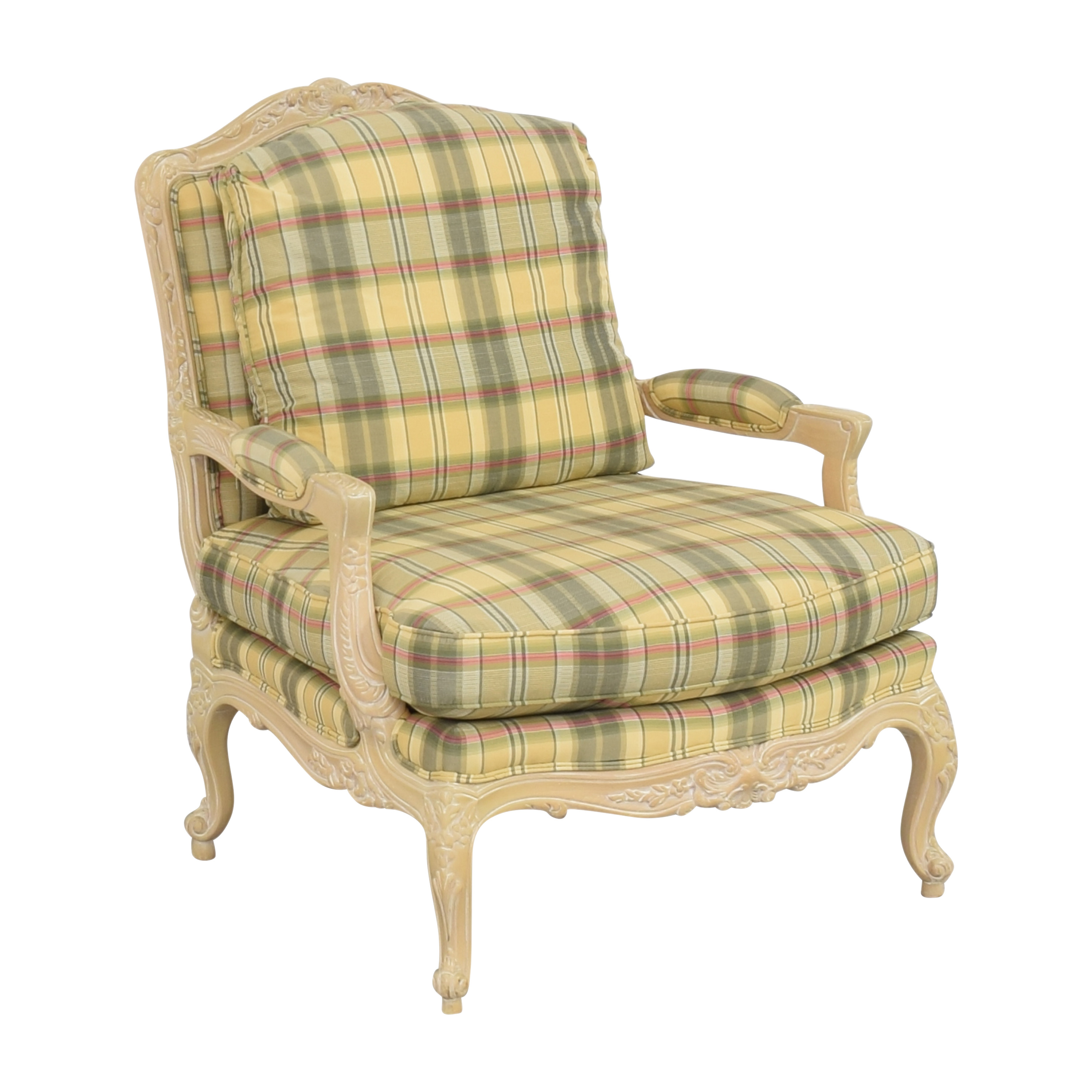 Sherrill Furniture Sherrill Furniture Plaid Carved Chair coupon