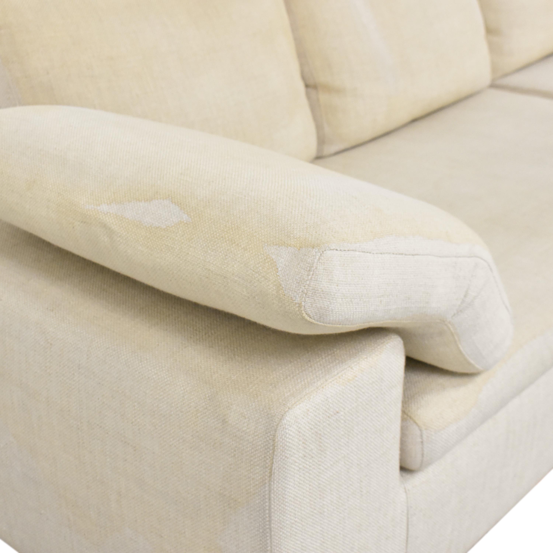 Symmetrical Two Piece Sectional Sofa pa