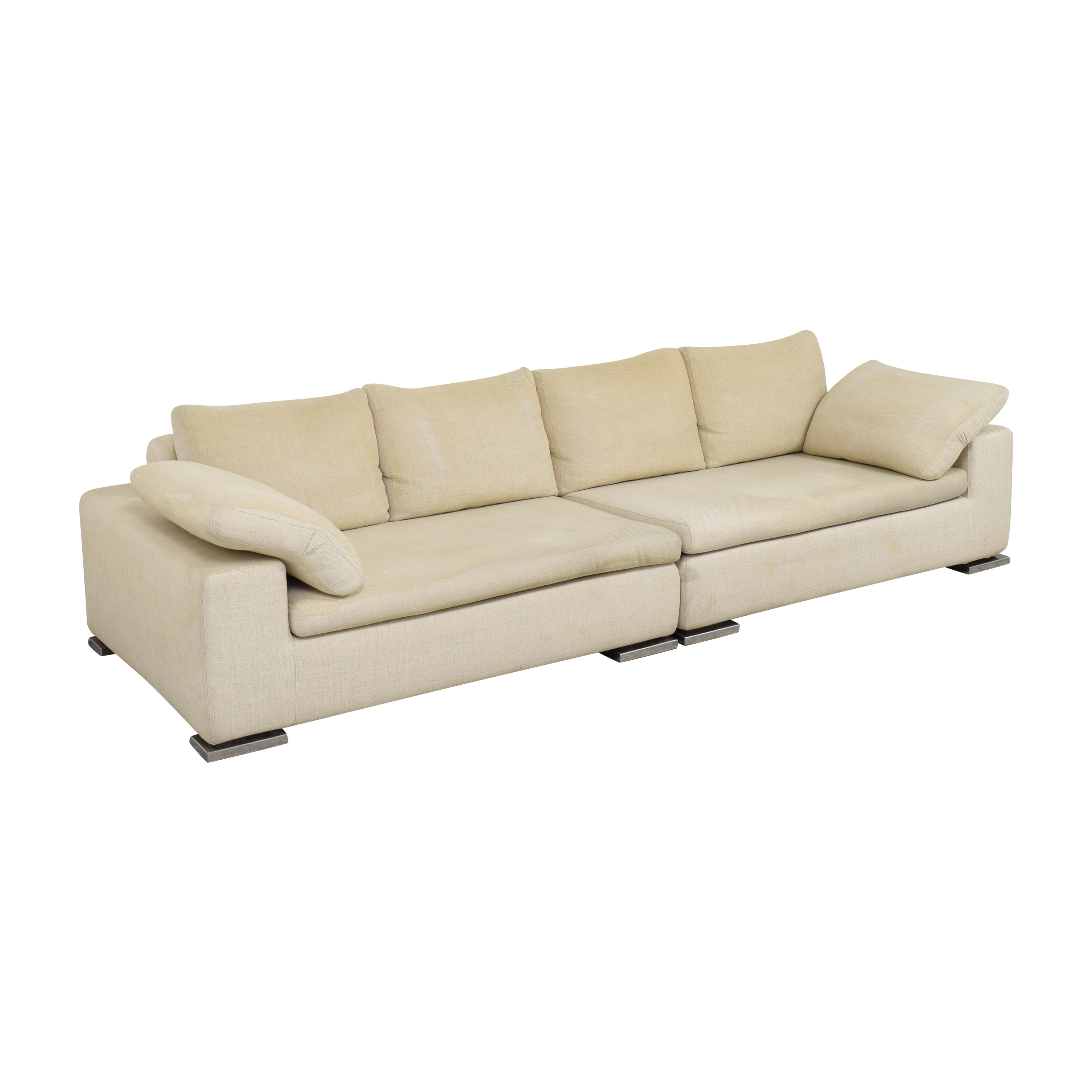 Symmetrical Two Piece Sectional Sofa dimensions
