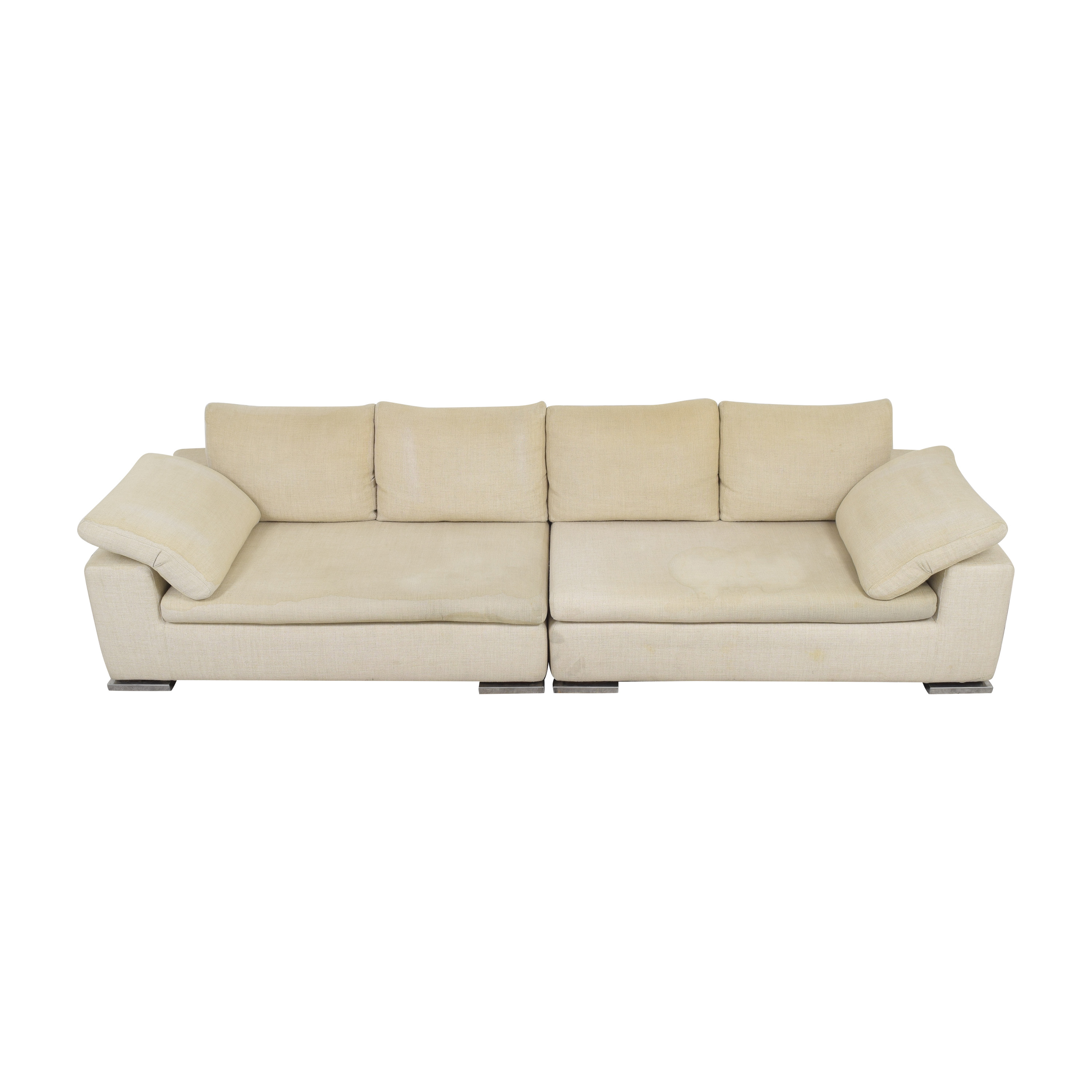 buy  Symmetrical Two Piece Sectional Sofa online