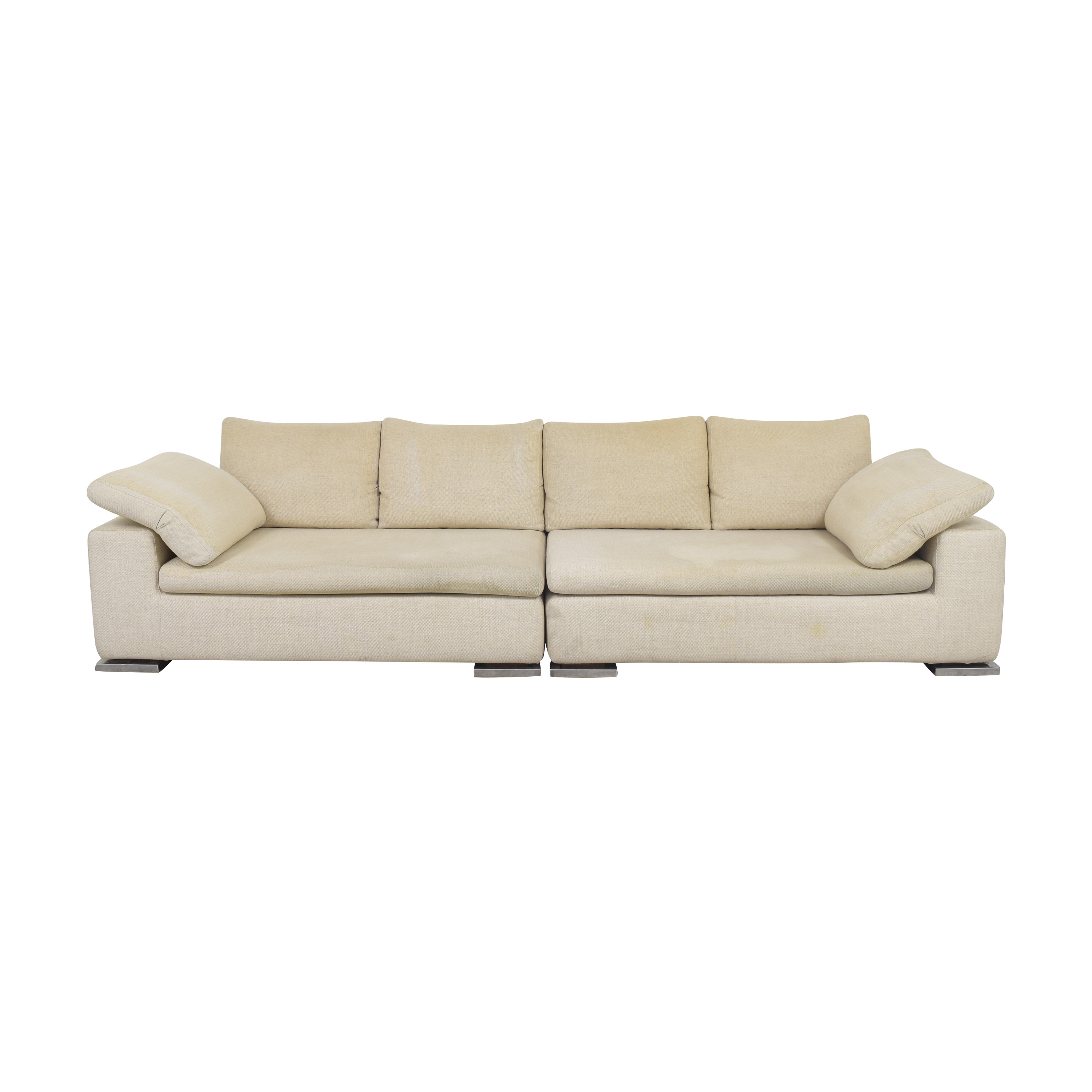 Symmetrical Two Piece Sectional Sofa