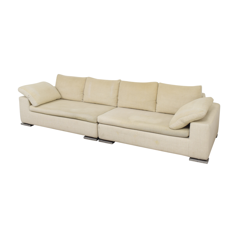 Symmetrical Two Piece Sectional Sofa