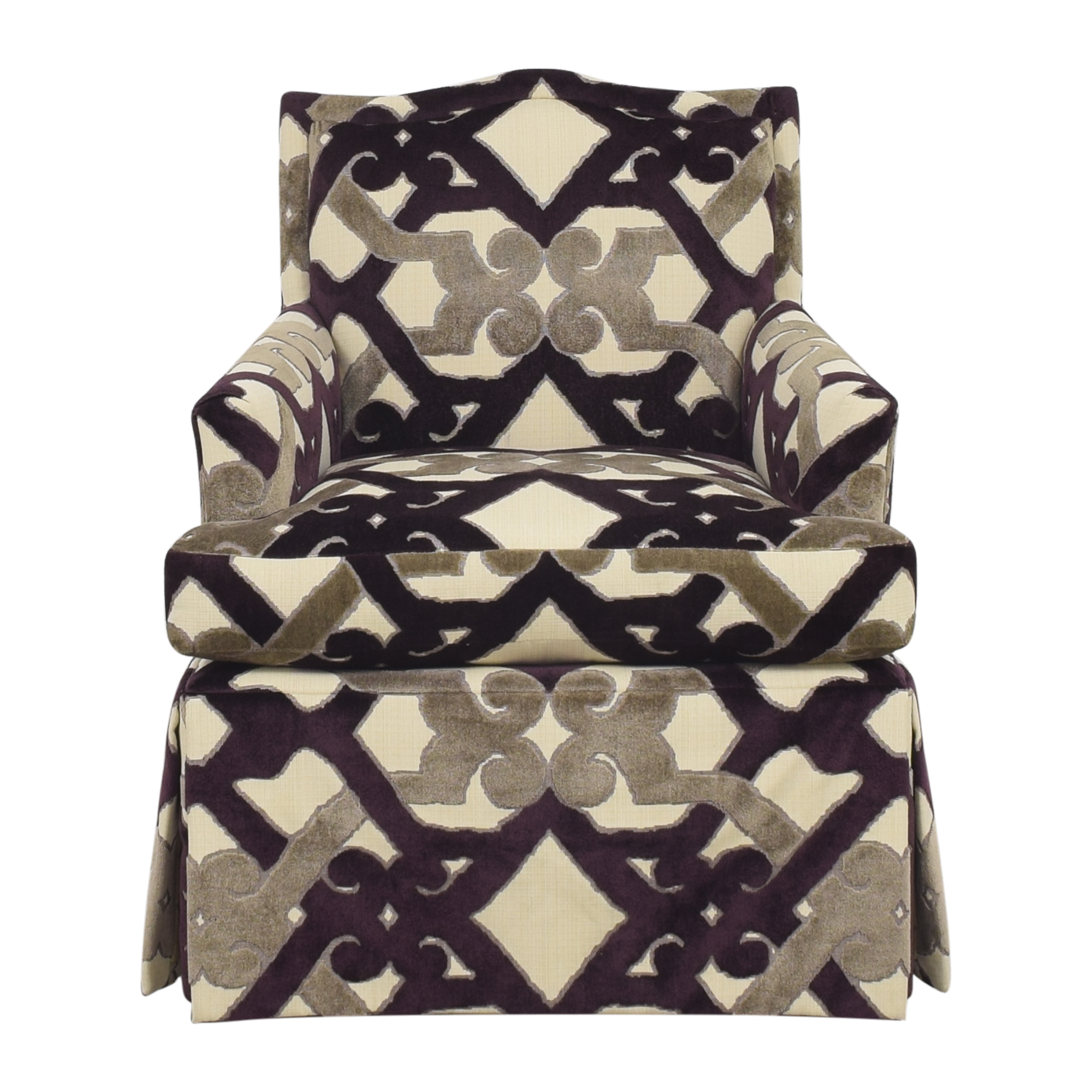 Century Furniture Waterfall Skirted Accent Chair sale
