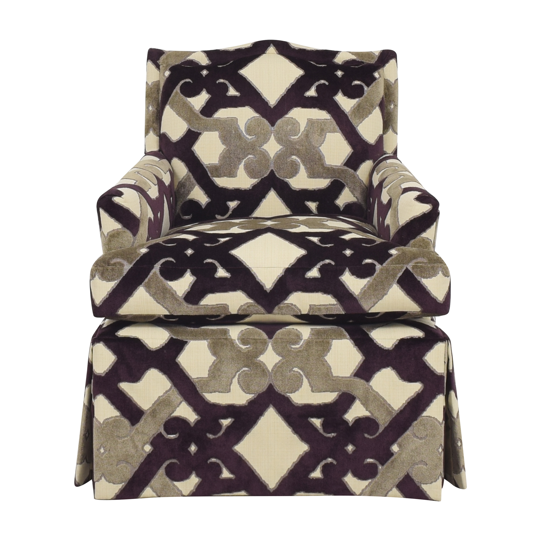 shop Century Furniture Waterfall Skirted Accent Chair Century Furniture Accent Chairs