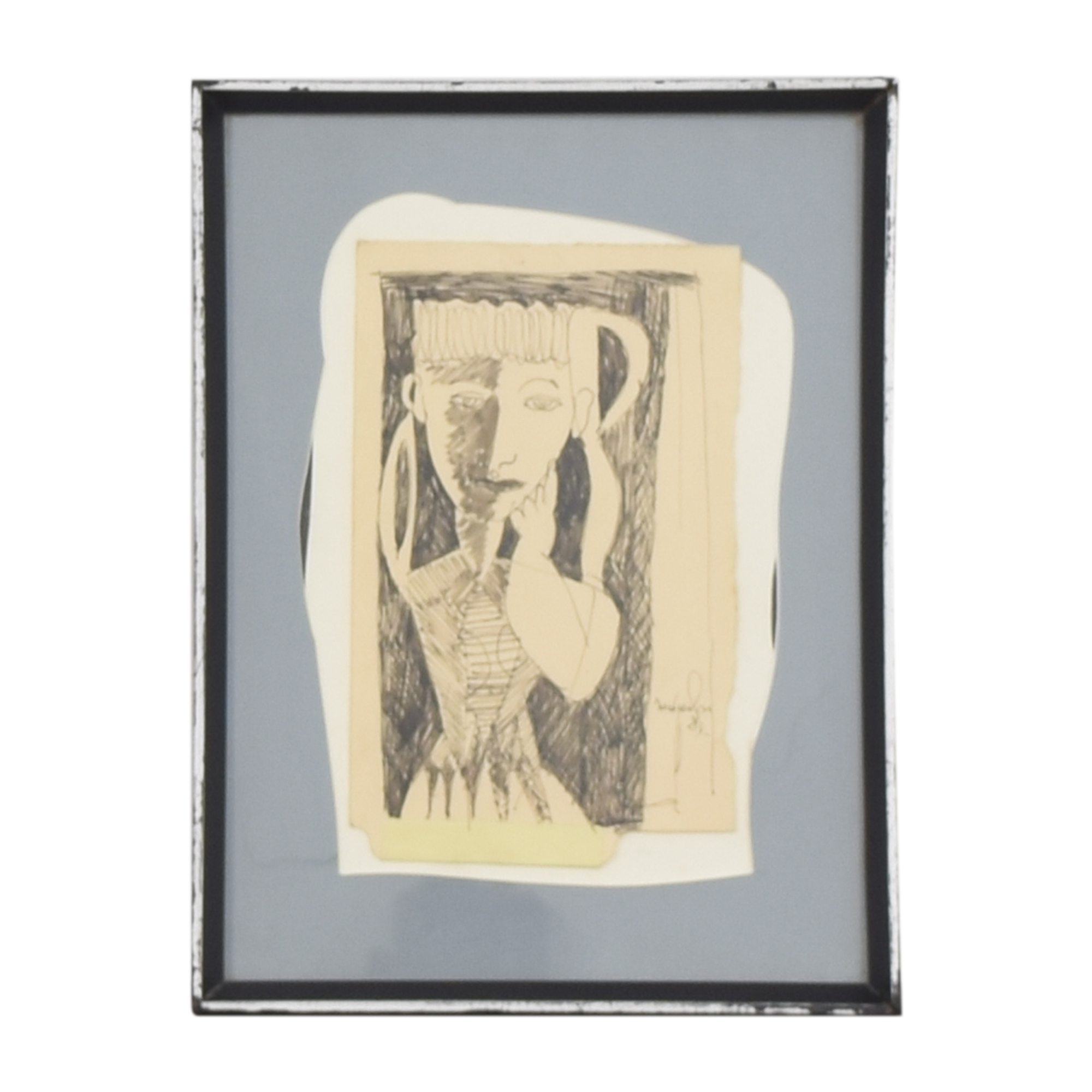 Framed Collage Drawing