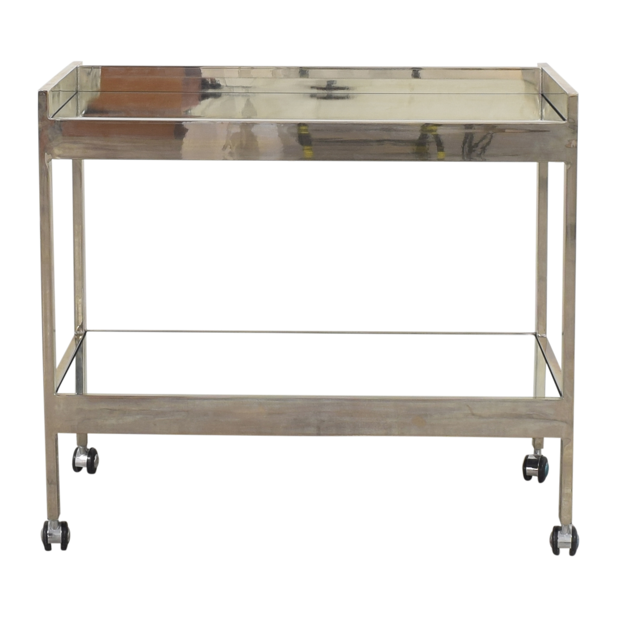 buy Worlds Away Roland Mirrored Bar Cart Worlds Away Utility Tables