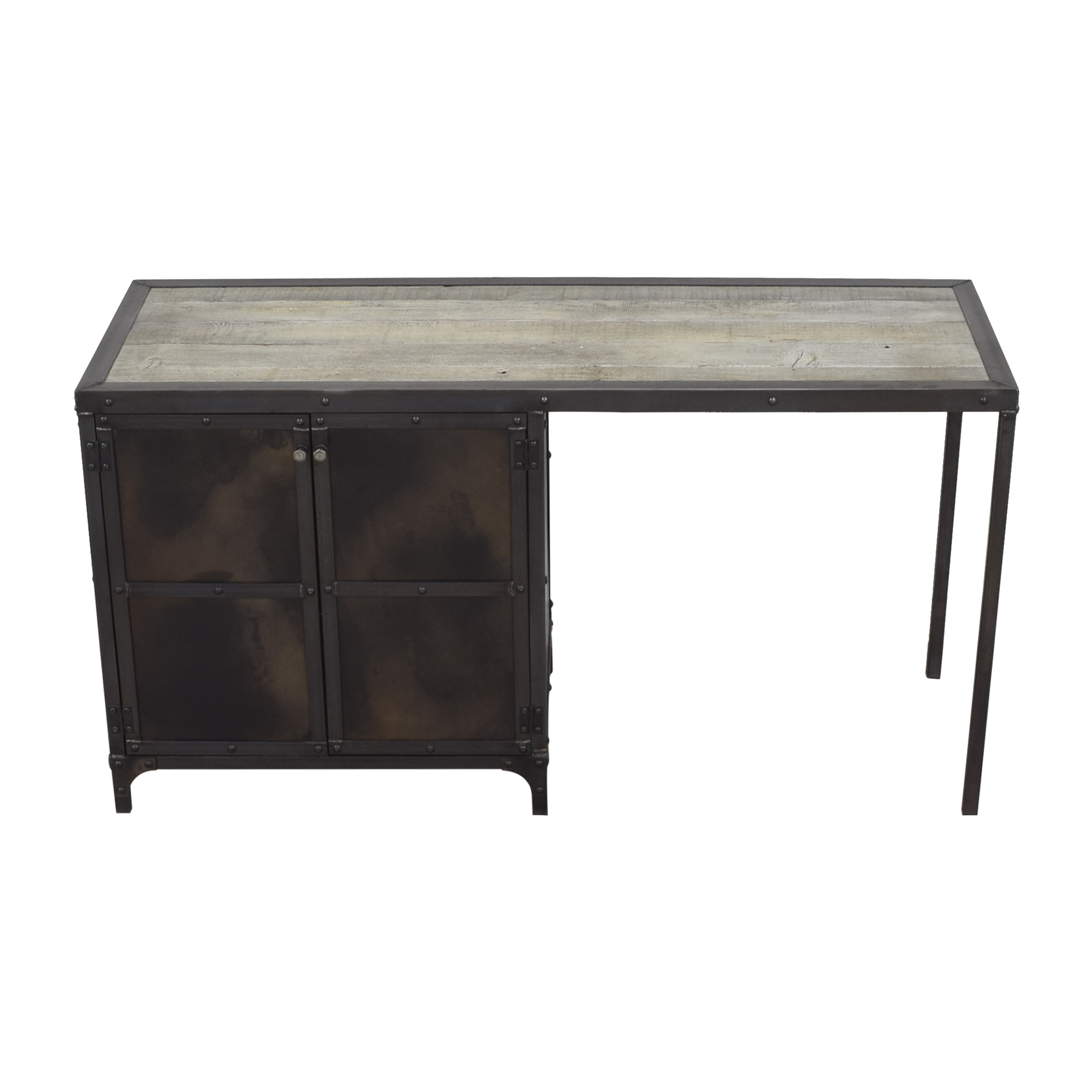 Combine 9 Industrial Desk with Side Cabinet Storage / Tables