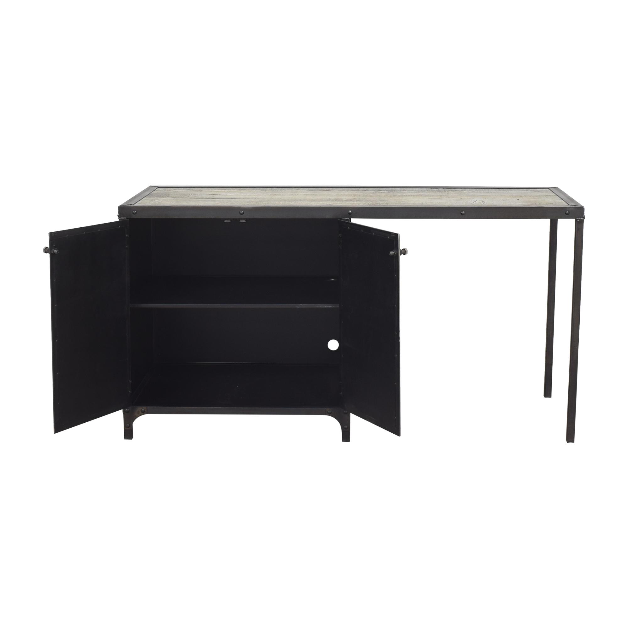 Combine 9 Industrial Desk with Side Cabinet Storage sale
