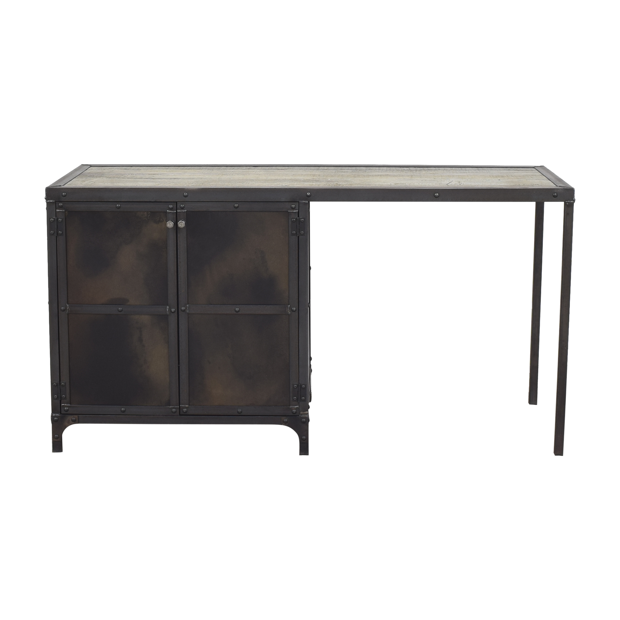 shop Combine 9 Combine 9 Industrial Desk with Side Cabinet Storage online
