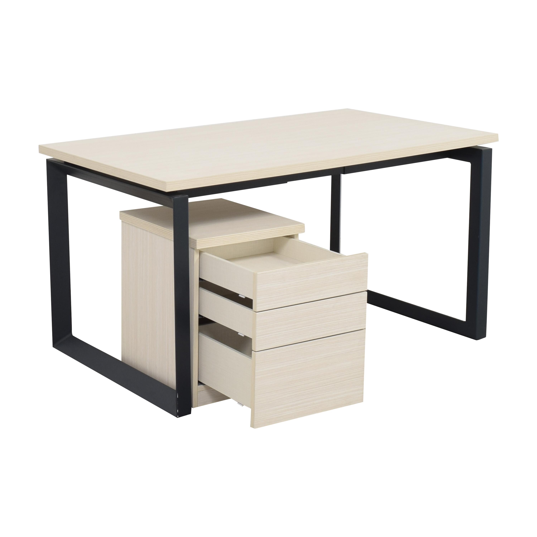 shop Lazzoni Pera Desk and File Cabinet Lazzoni