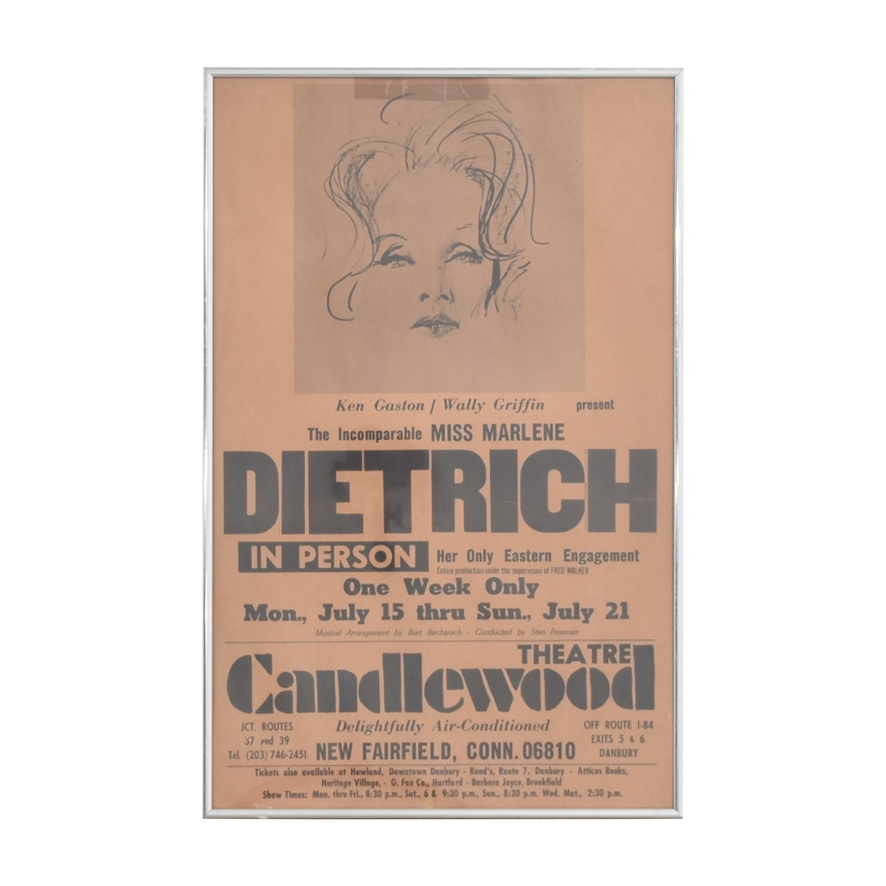 Triton Gallery Marlene Dietrich Theatre Poster Wall Art coupon