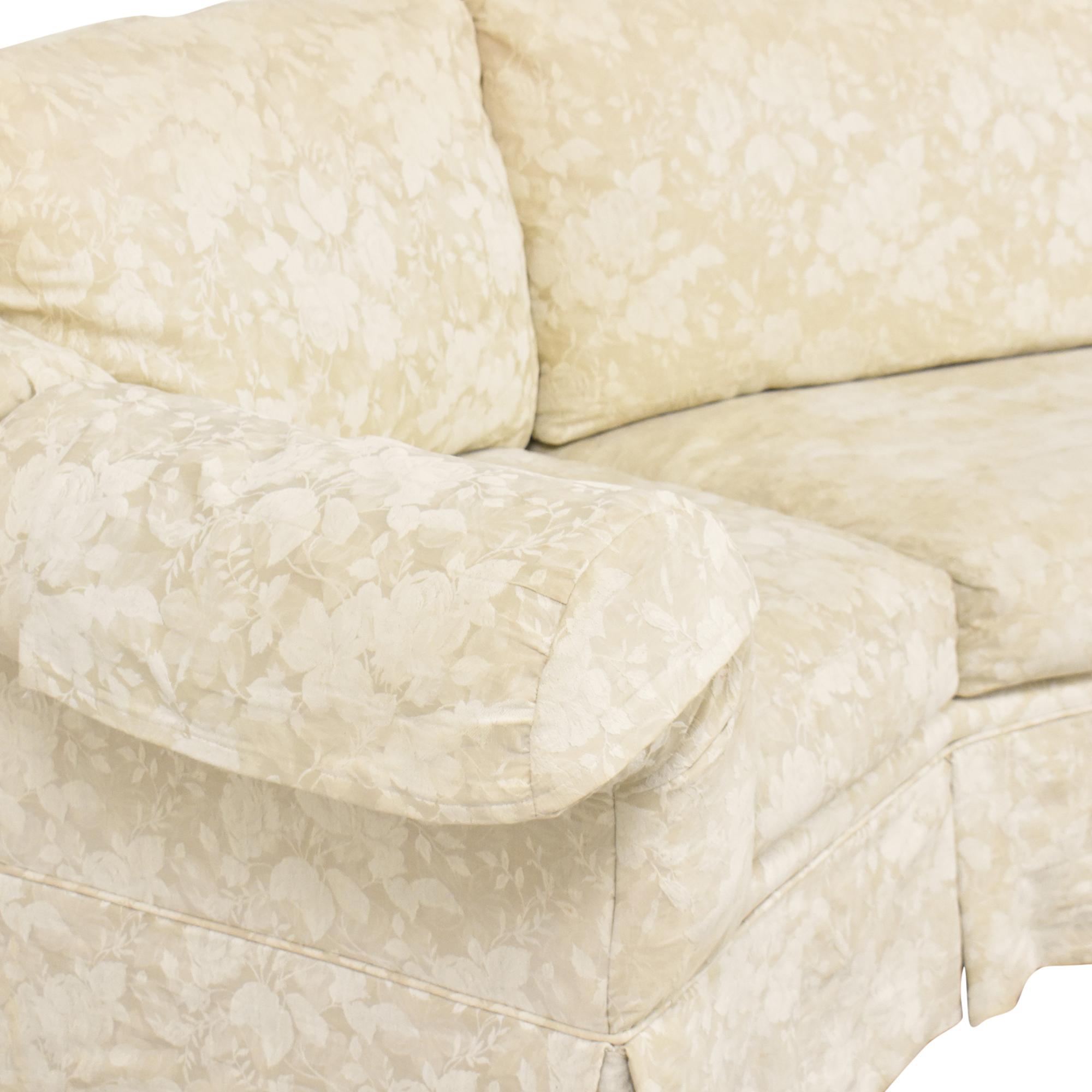 Rowe Furniture Rowe Furniture Skirted Crescent Sofa ma