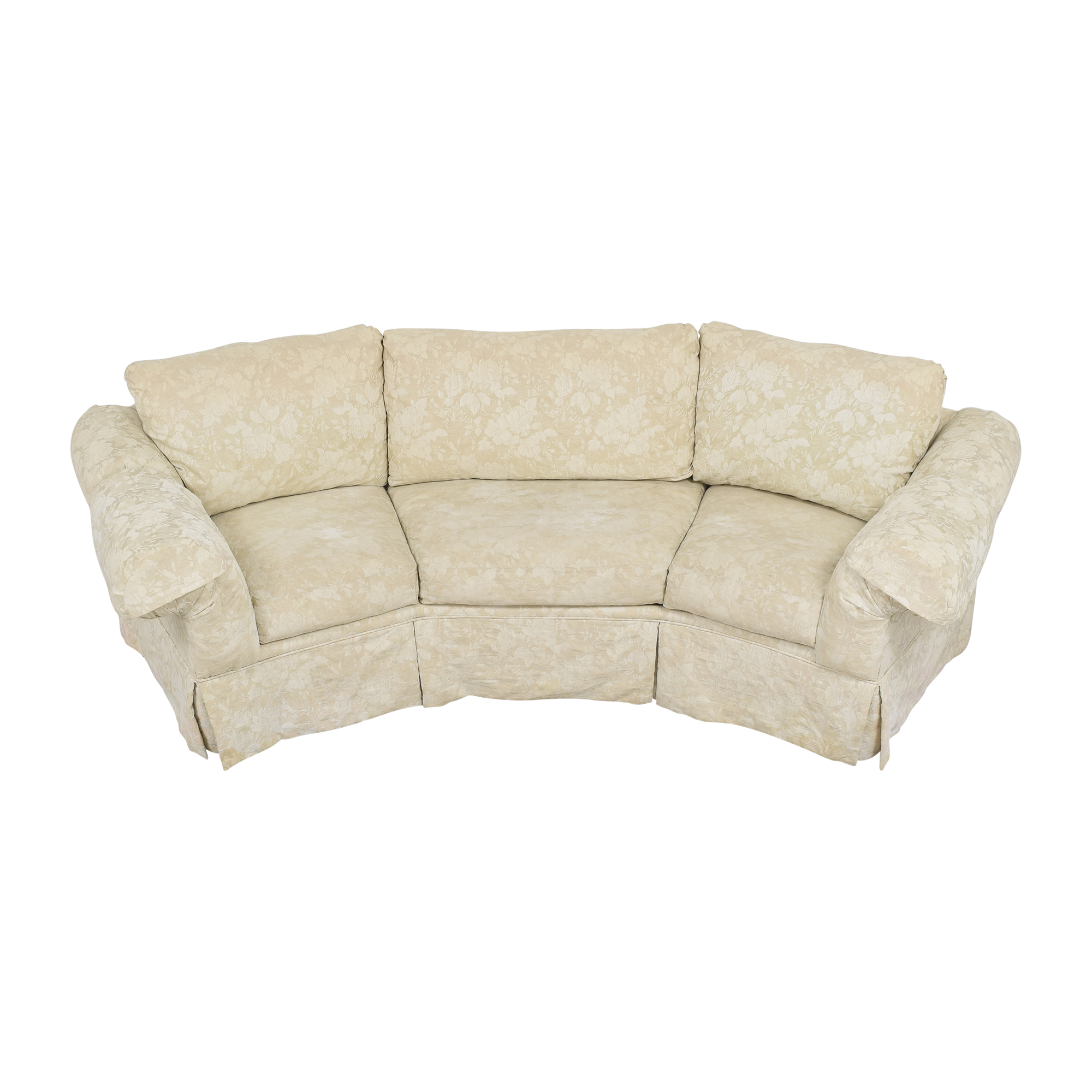 Rowe Furniture Rowe Furniture Skirted Crescent Sofa Sofas