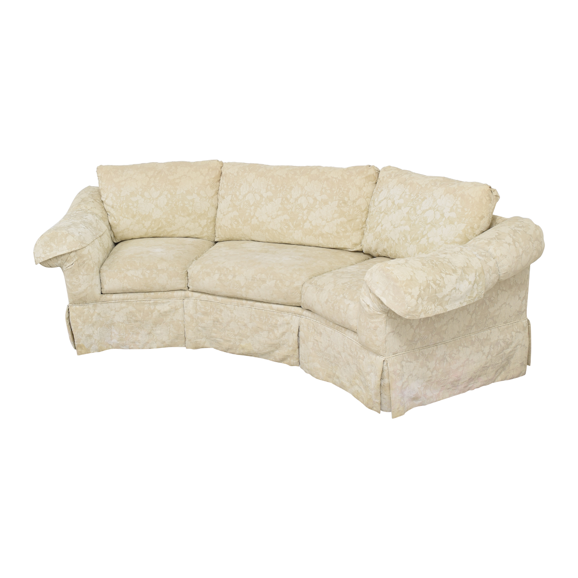 shop Rowe Furniture Skirted Crescent Sofa Rowe Furniture Classic Sofas