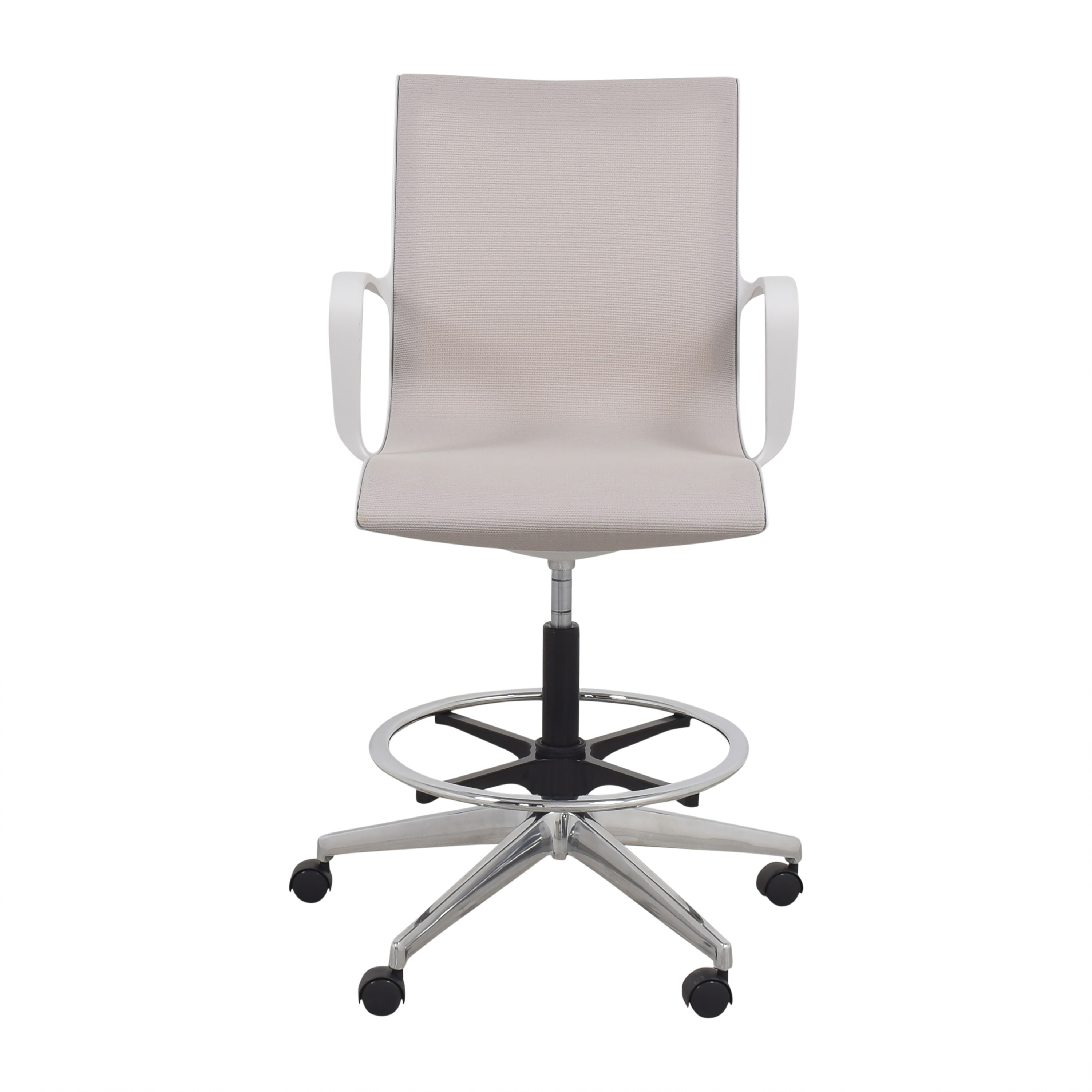 Global Furniture Group Global Furniture Group Solar Stool white and gray