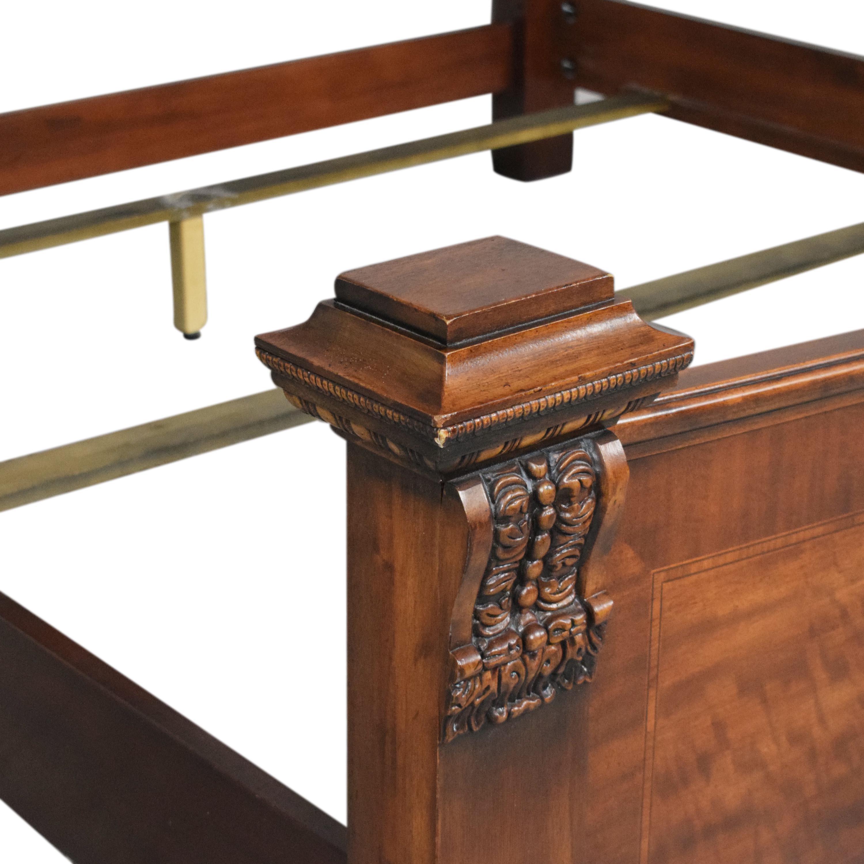 Henredon Furniture Henredon Carved King Bed pa