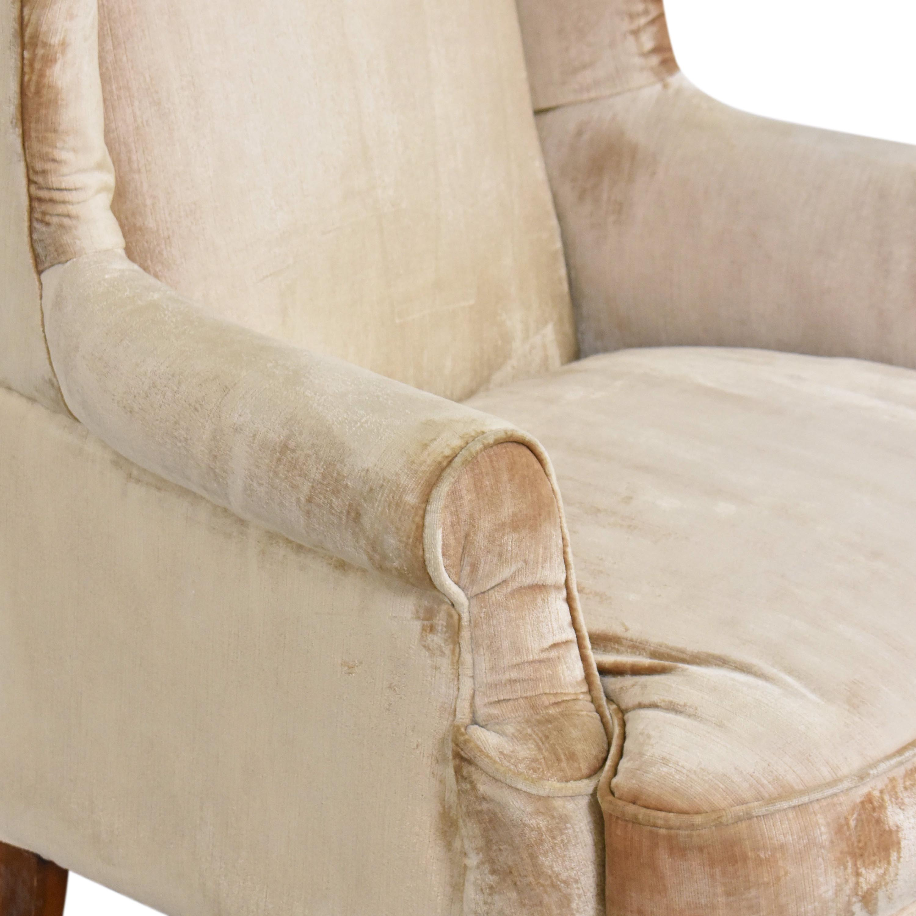 Queen Anne Wing Back Chair used