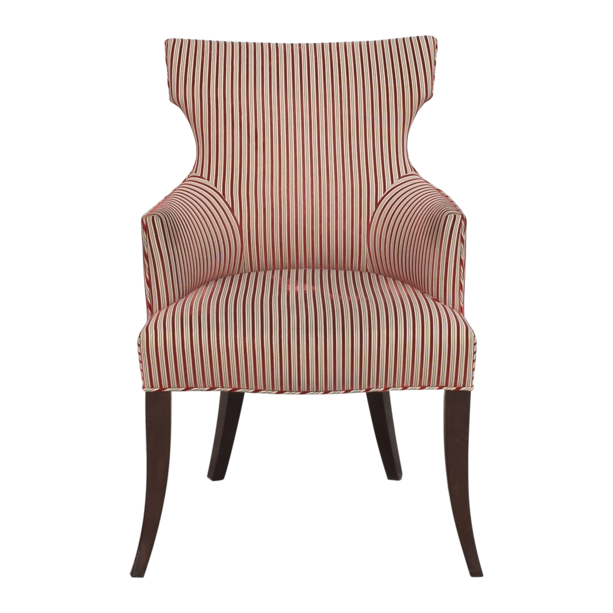 Upholstered Accent Chair red & cream