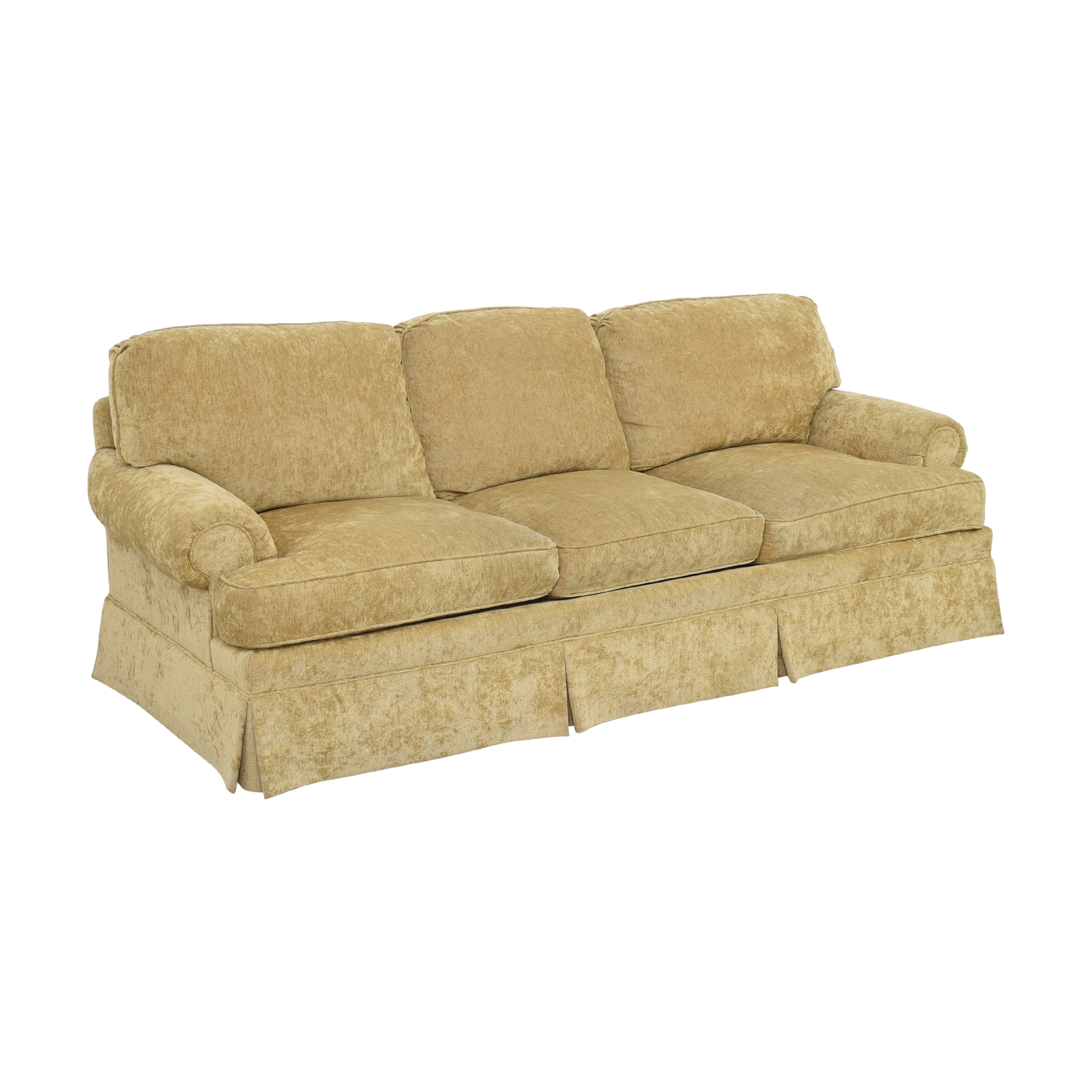 Century Furniture Century Furniture Roll Arm Skirted Sofa dimensions