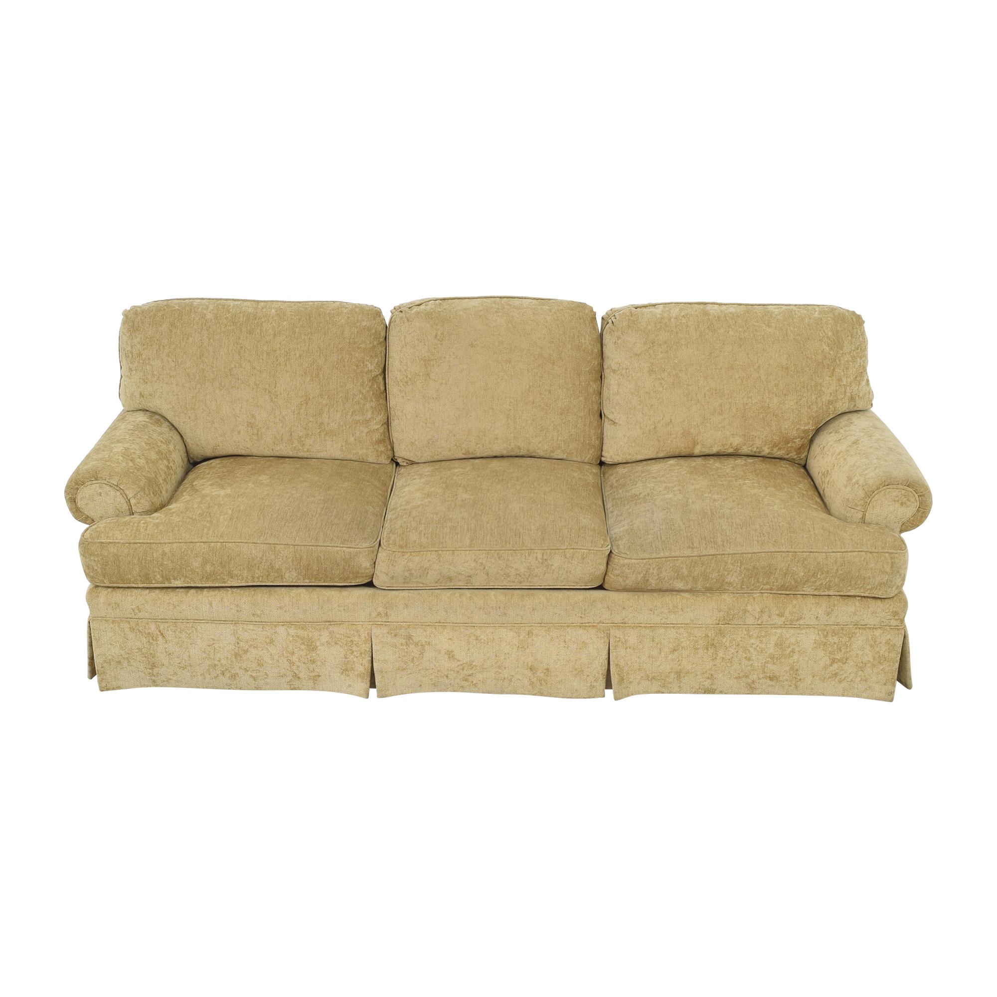 Century Furniture Century Furniture Roll Arm Skirted Sofa on sale