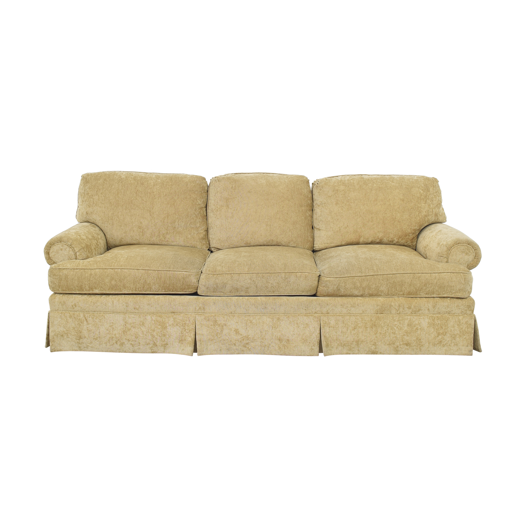 Century Furniture Century Furniture Roll Arm Skirted Sofa tan