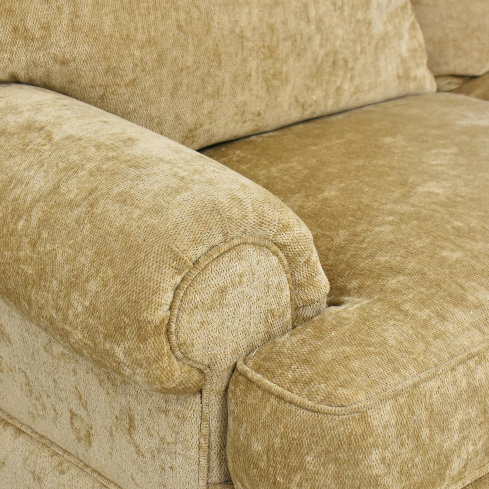 Century Furniture Century Furniture Roll Arm Skirted Sofa nj
