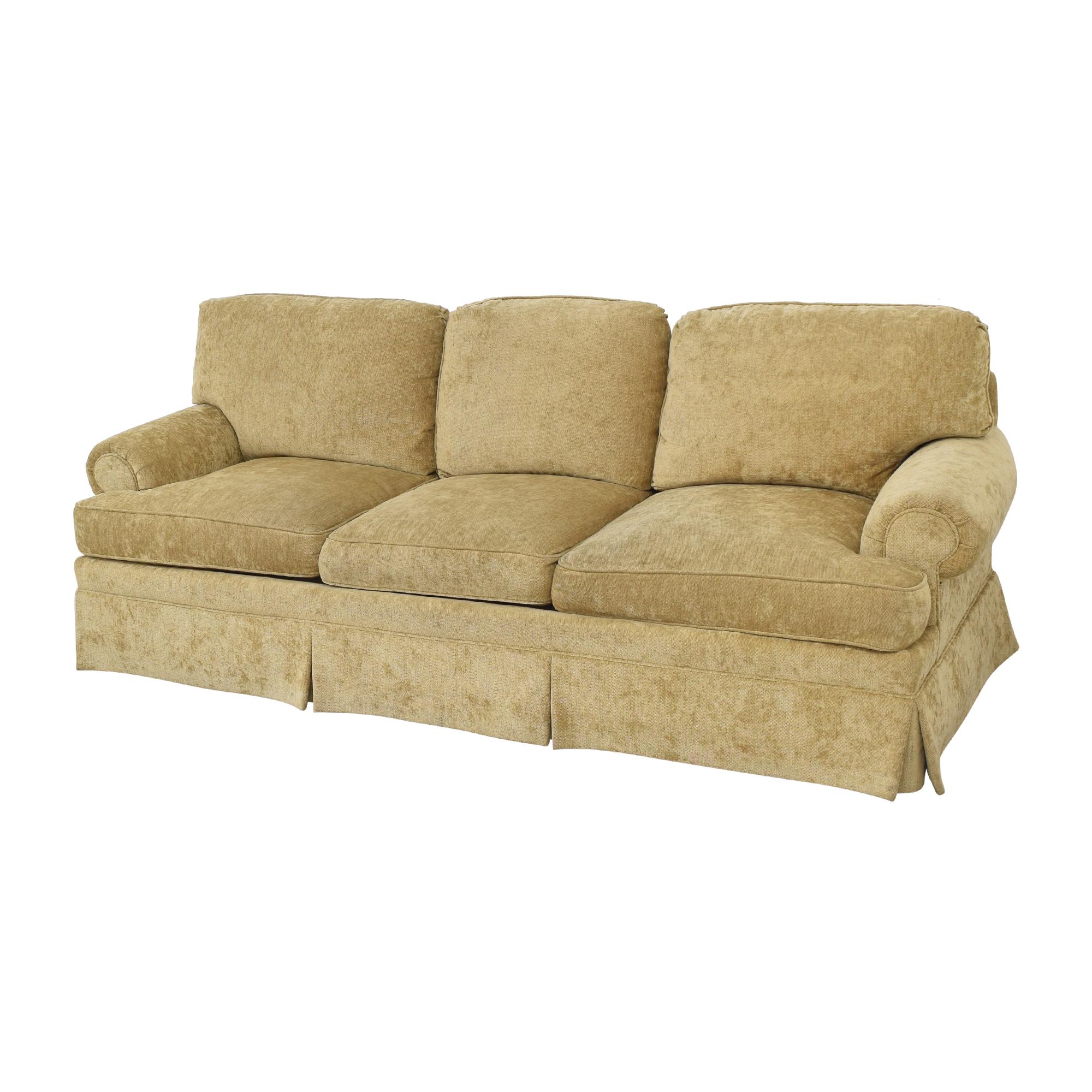 shop Century Furniture Roll Arm Skirted Sofa Century Furniture Classic Sofas
