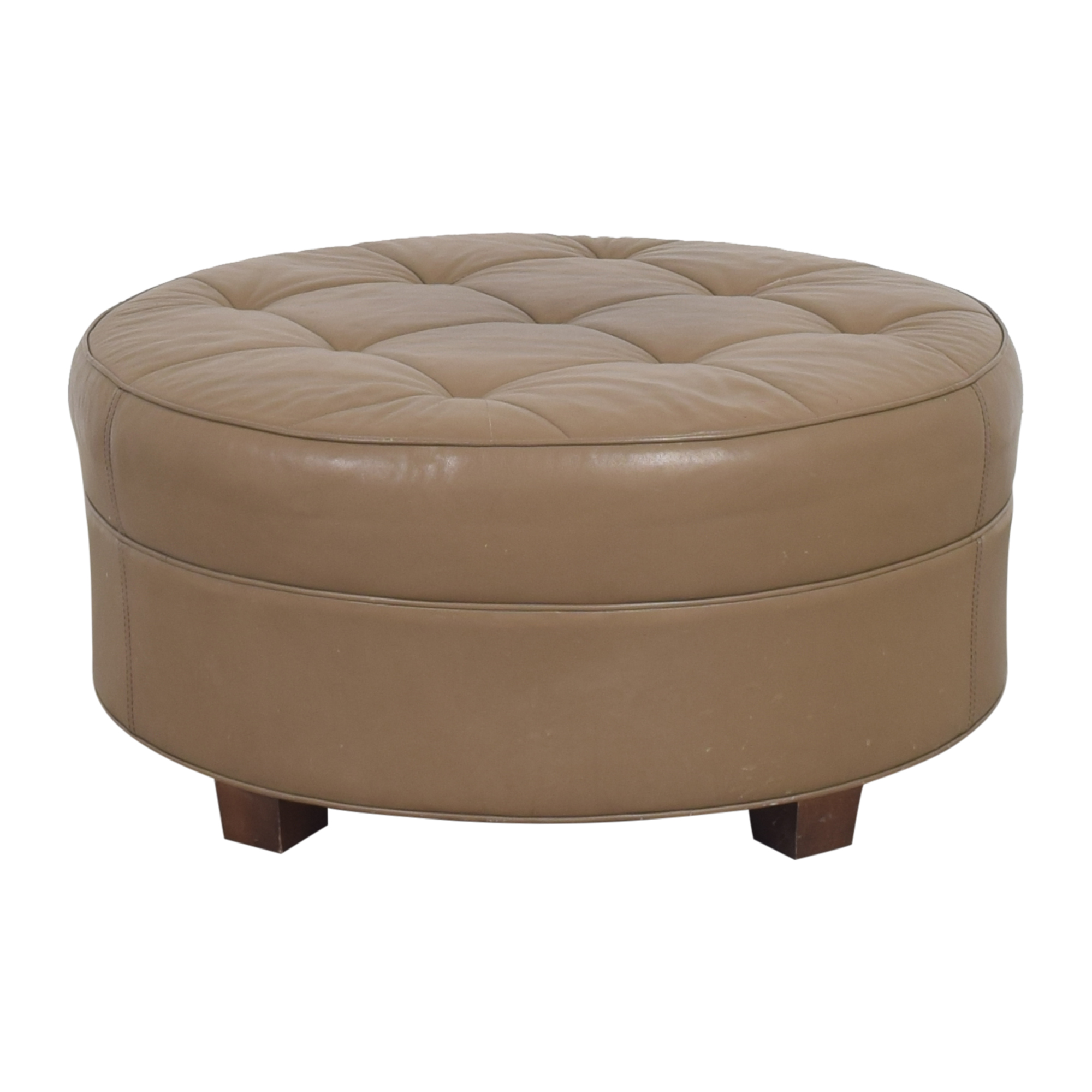 Stickley Furniture Stickley Furniture Round Tufted Ottoman pa