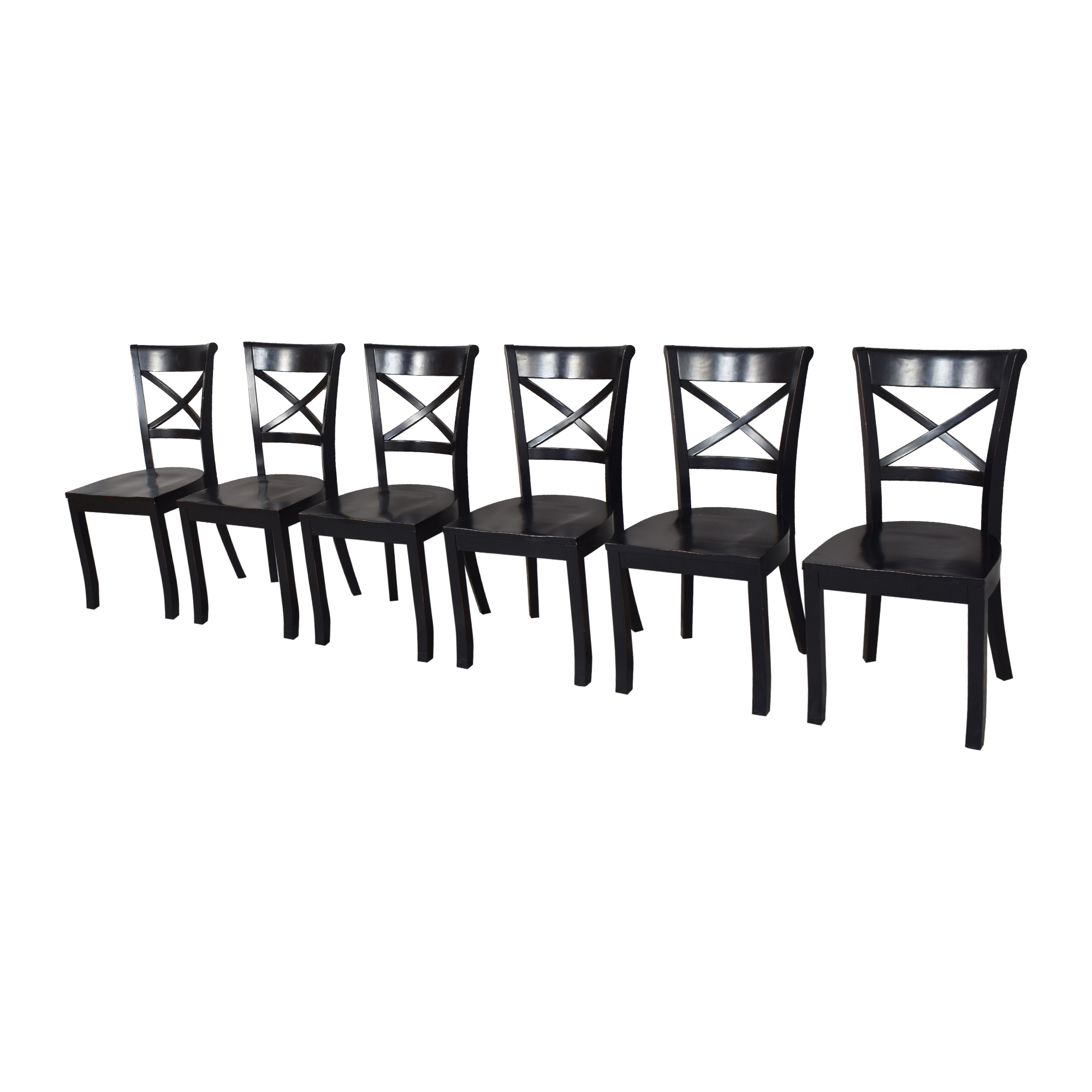 Crate & Barrel Crate & Barrel Vintner X Back Dining Chairs for sale
