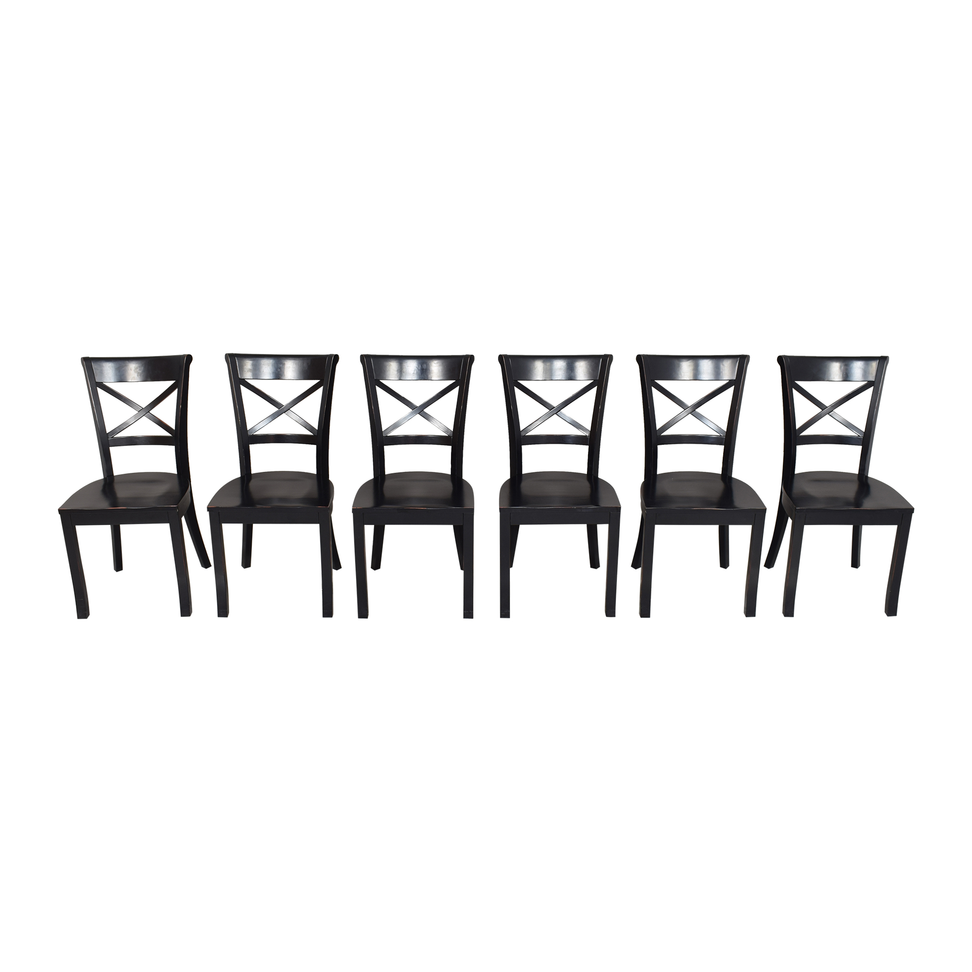 Crate & Barrel Crate & Barrel Vintner X Back Dining Chairs nj