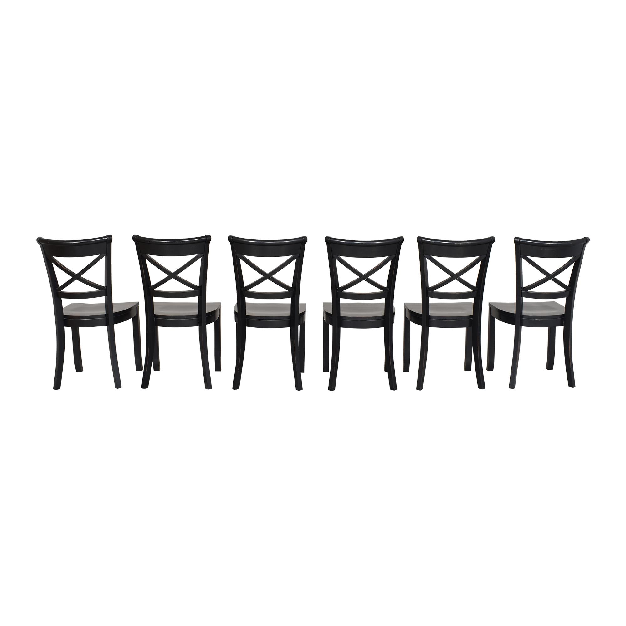 shop Crate & Barrel Vintner X Back Dining Chairs Crate & Barrel Dining Chairs