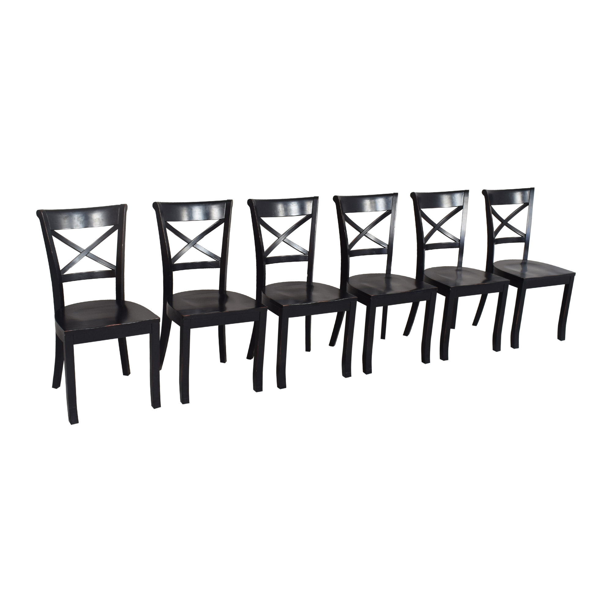 Crate & Barrel Crate & Barrel Vintner X Back Dining Chairs second hand